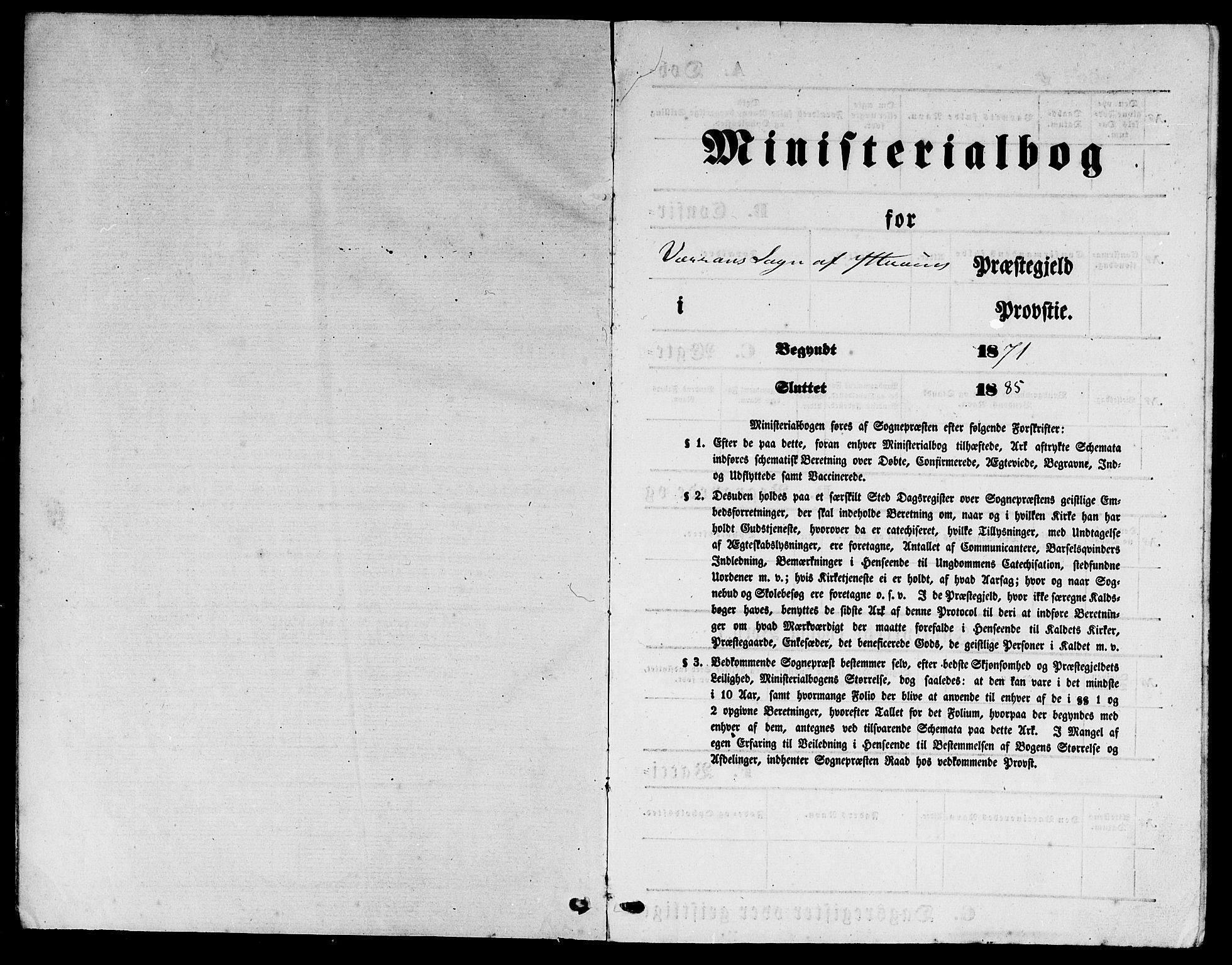 SAT, Ministerialprotokoller, klokkerbøker og fødselsregistre - Nord-Trøndelag, 744/L0422: Klokkerbok nr. 744C01, 1871-1885