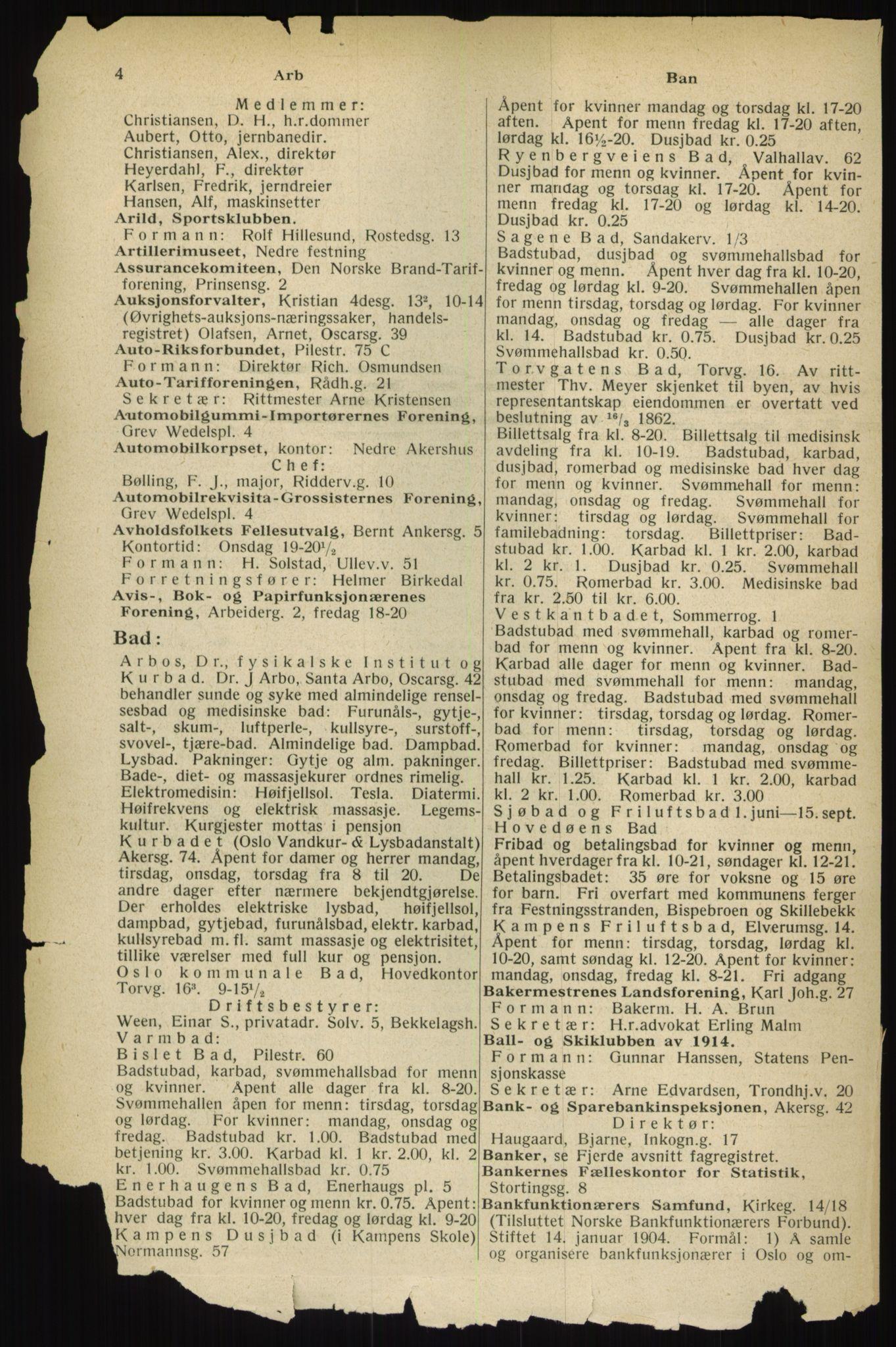 PUBL, Kristiania/Oslo adressebok, 1933, s. 4