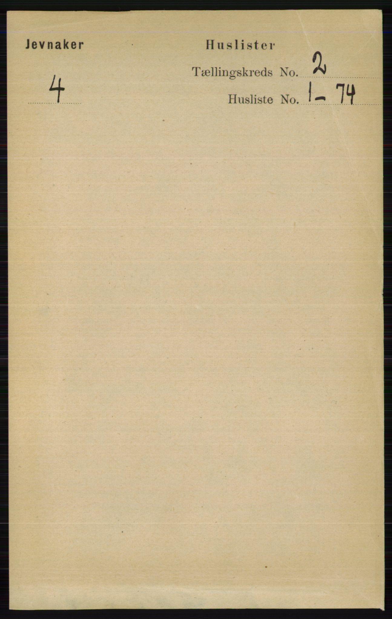 RA, Folketelling 1891 for 0532 Jevnaker herred, 1891, s. 556