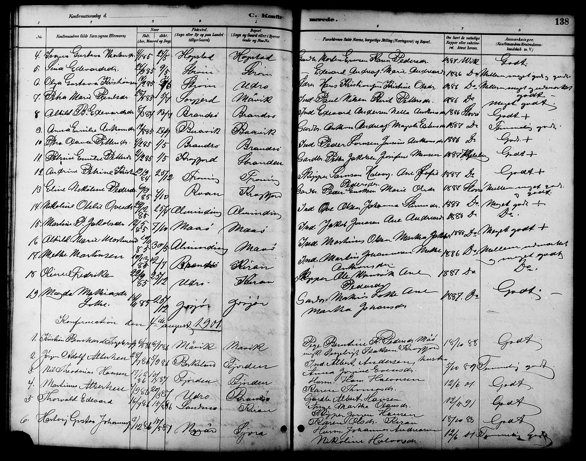SAT, Ministerialprotokoller, klokkerbøker og fødselsregistre - Sør-Trøndelag, 657/L0716: Klokkerbok nr. 657C03, 1889-1904, s. 138