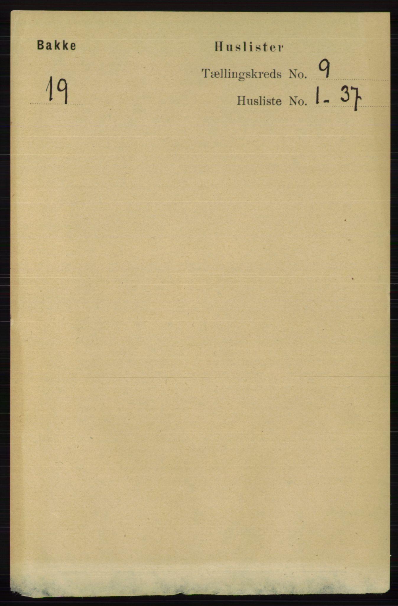 RA, Folketelling 1891 for 1045 Bakke herred, 1891, s. 1713