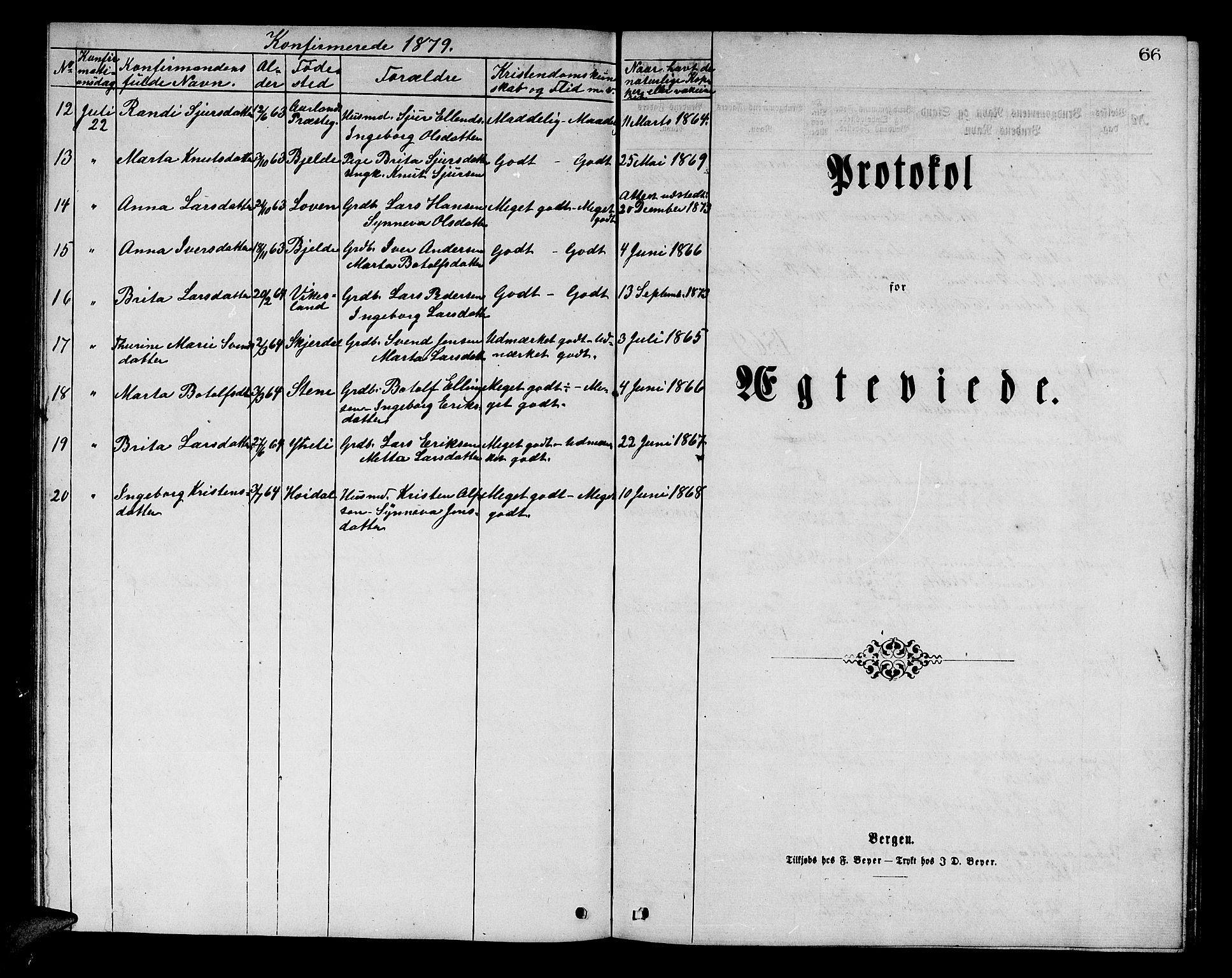 SAB, Aurland Sokneprestembete*, Klokkerbok nr. A 1, 1868-1881, s. 66
