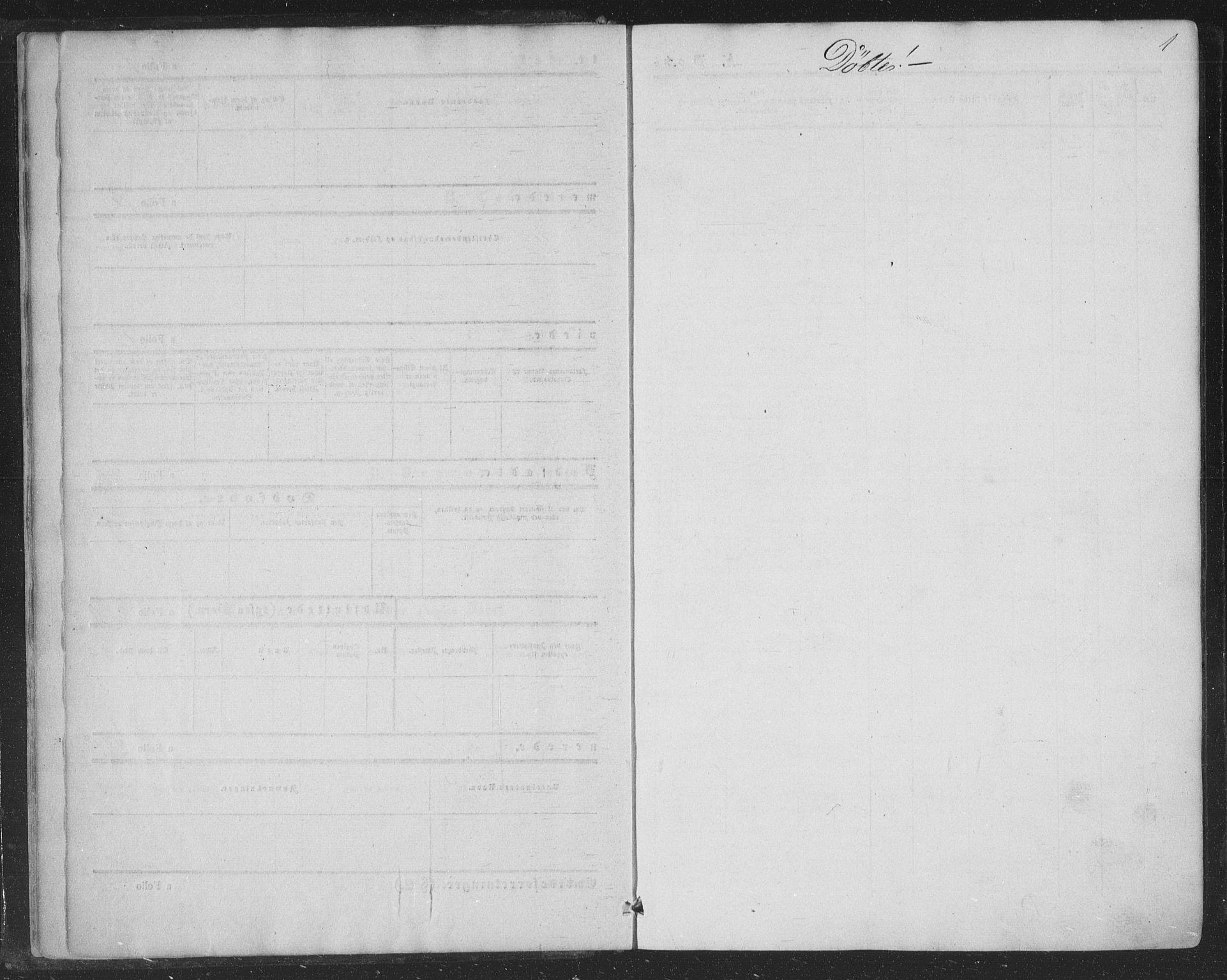 SAKO, Nore kirkebøker, F/Fa/L0002: Ministerialbok nr. I 2, 1856-1871, s. 1