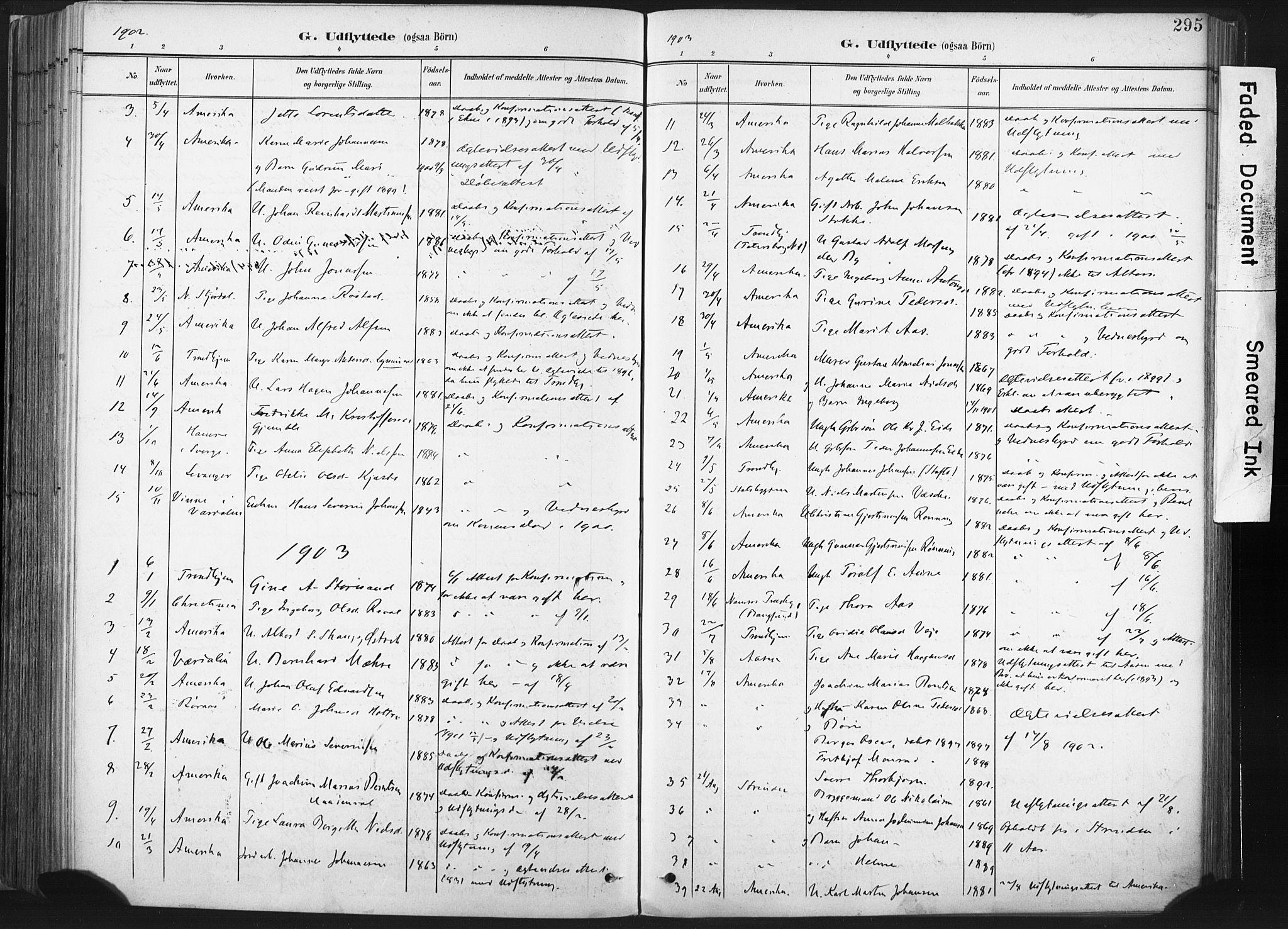 SAT, Ministerialprotokoller, klokkerbøker og fødselsregistre - Nord-Trøndelag, 717/L0162: Ministerialbok nr. 717A12, 1898-1923, s. 295