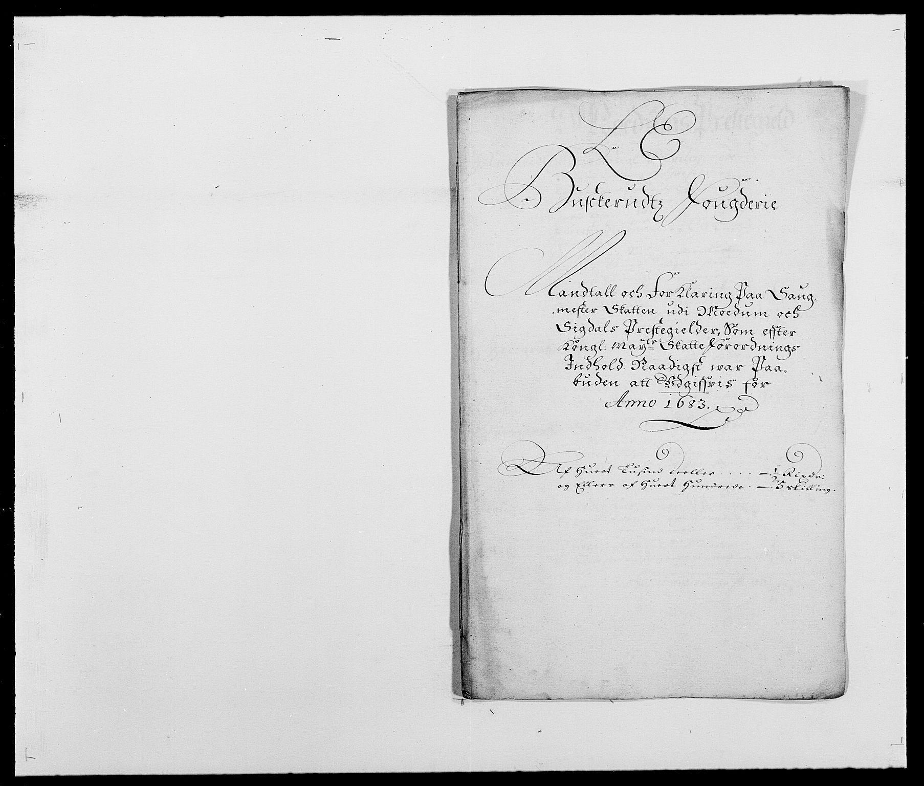RA, Rentekammeret inntil 1814, Reviderte regnskaper, Fogderegnskap, R25/L1677: Fogderegnskap Buskerud, 1683-1684, s. 116