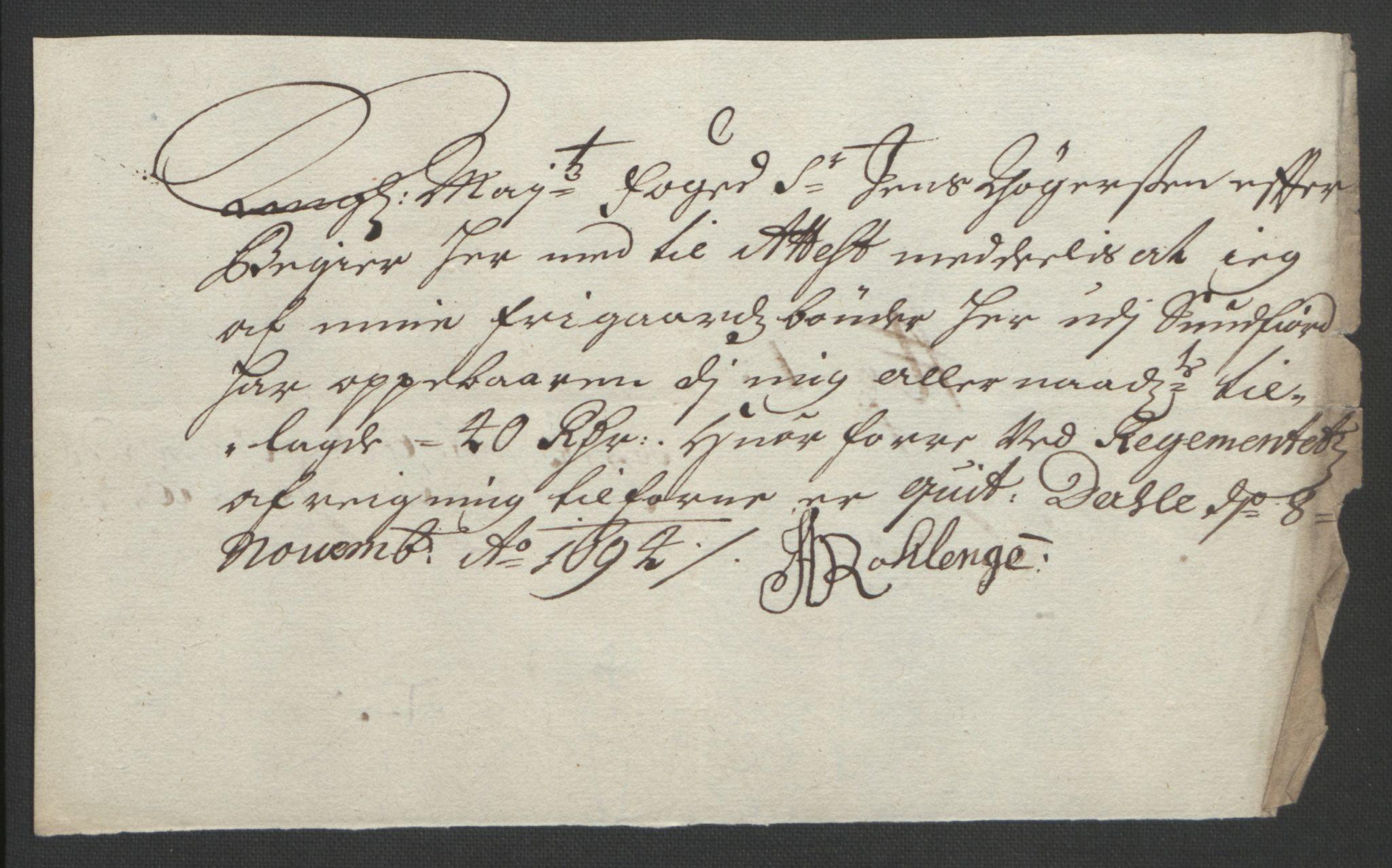 RA, Rentekammeret inntil 1814, Reviderte regnskaper, Fogderegnskap, R53/L3421: Fogderegnskap Sunn- og Nordfjord, 1693-1694, s. 457