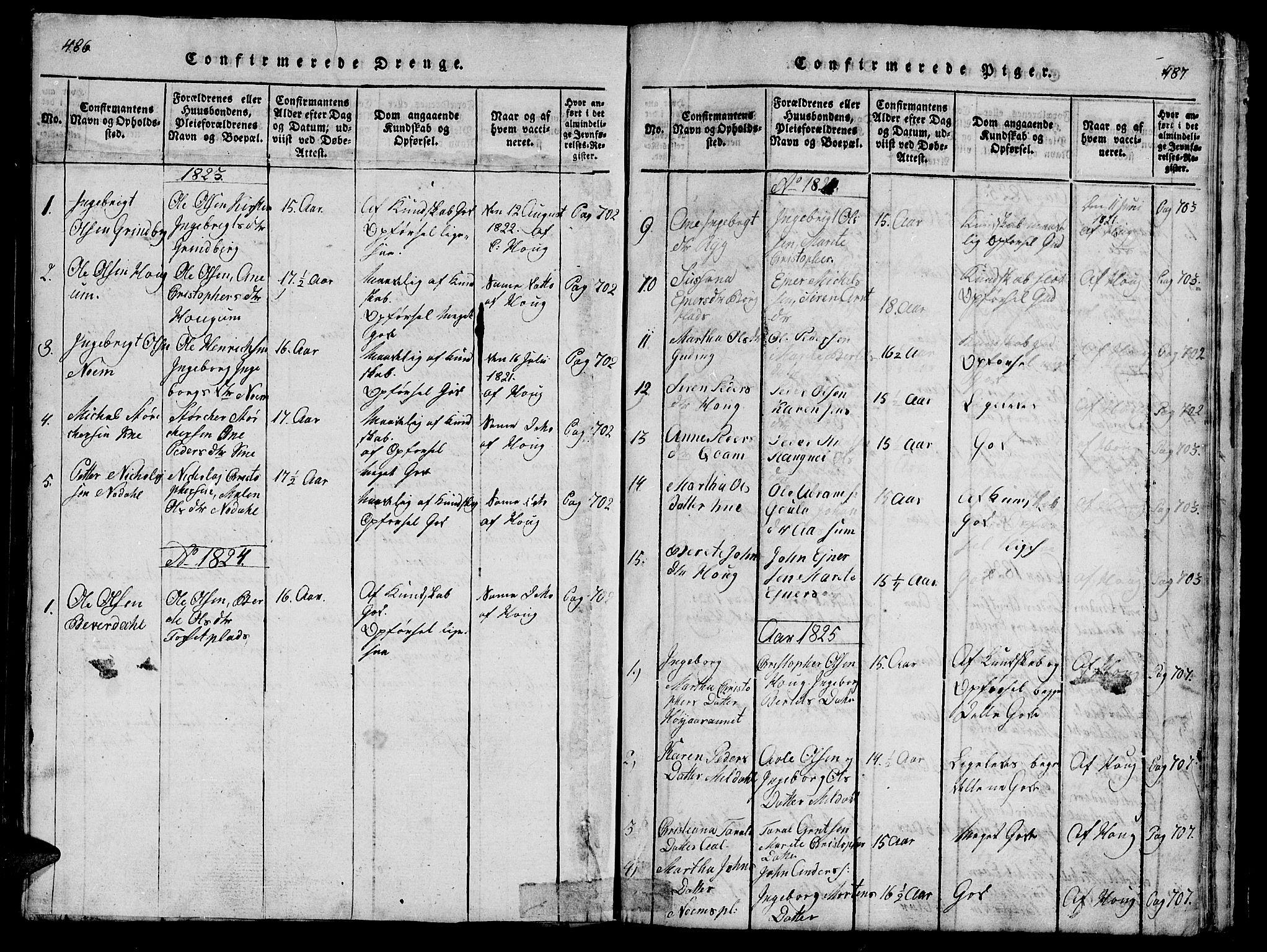 SAT, Ministerialprotokoller, klokkerbøker og fødselsregistre - Nord-Trøndelag, 747/L0459: Klokkerbok nr. 747C01, 1816-1842, s. 486-487