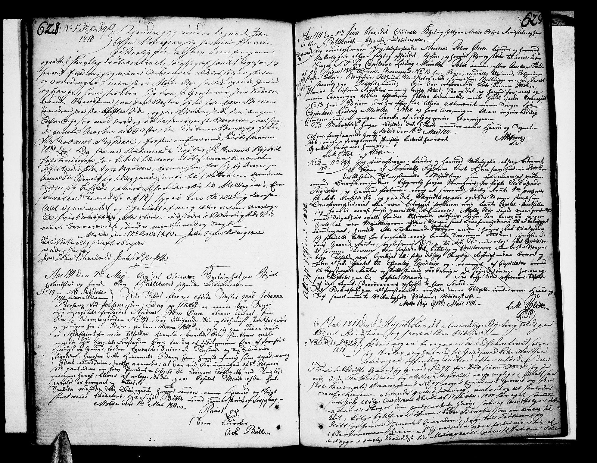 SAT, Molde byfogd, 2/2C/L0001: Pantebok nr. 1, 1748-1823, s. 628-629