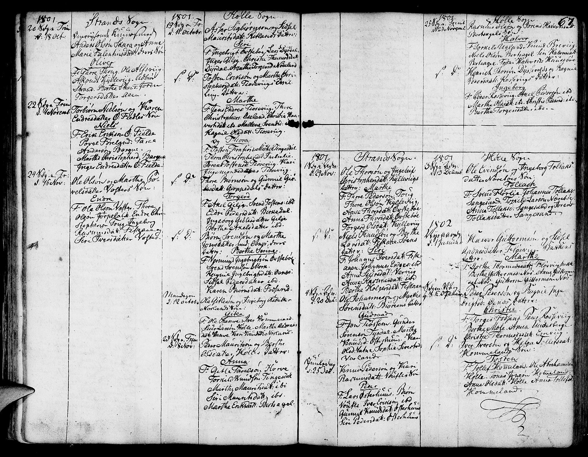 SAST, Strand sokneprestkontor, H/Ha/Haa/L0003: Ministerialbok nr. A 3, 1769-1816, s. 67