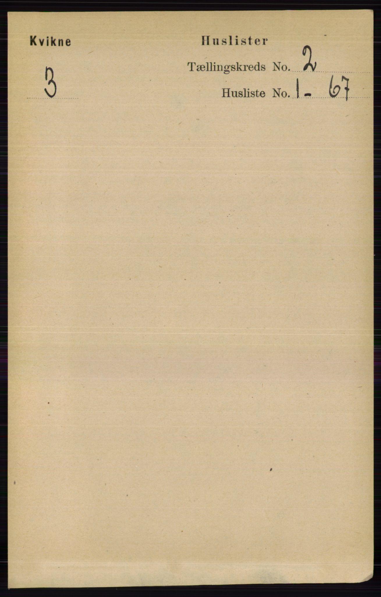 RA, Folketelling 1891 for 0440 Kvikne herred, 1891, s. 227