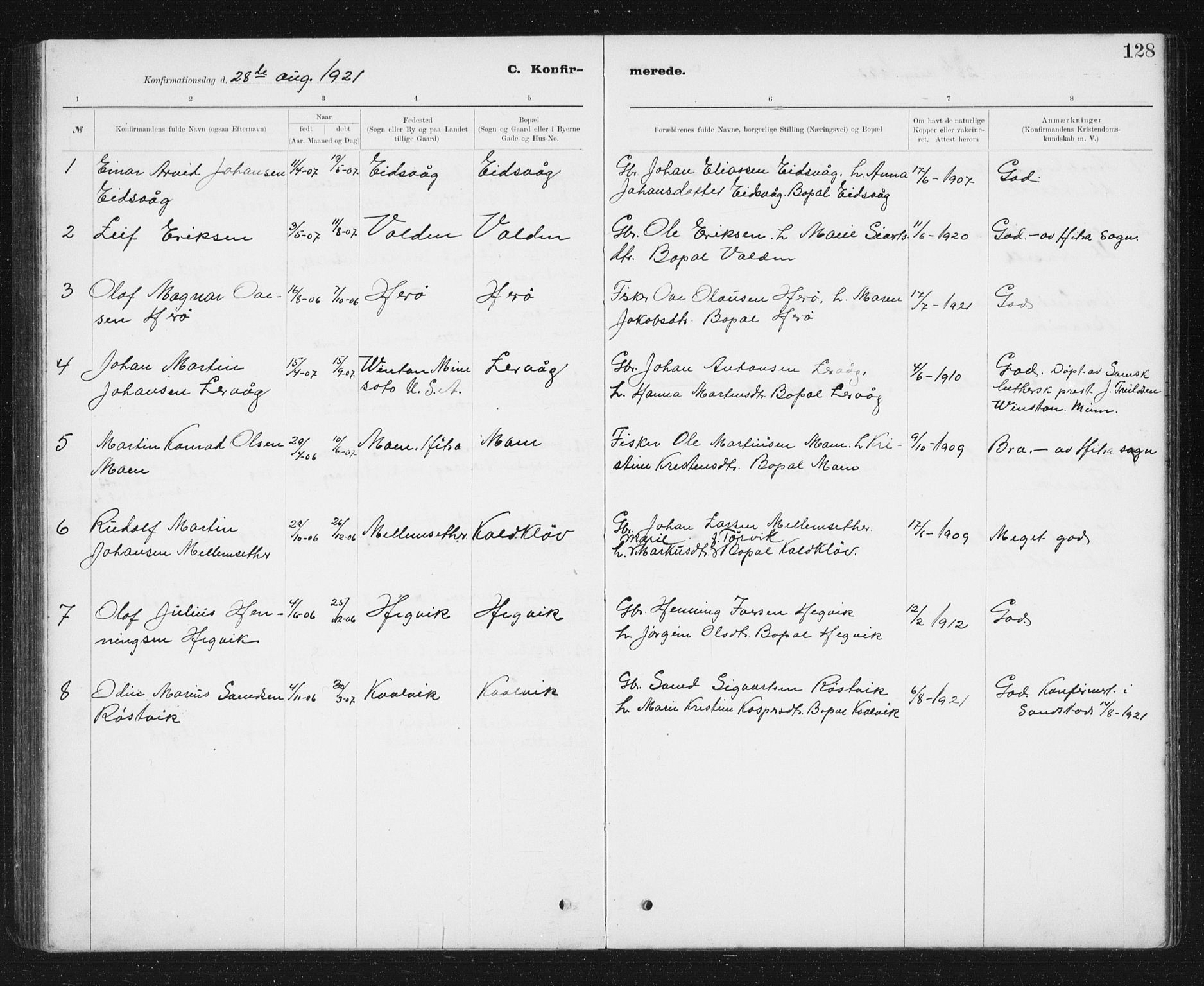 SAT, Ministerialprotokoller, klokkerbøker og fødselsregistre - Sør-Trøndelag, 637/L0563: Klokkerbok nr. 637C04, 1899-1940, s. 128
