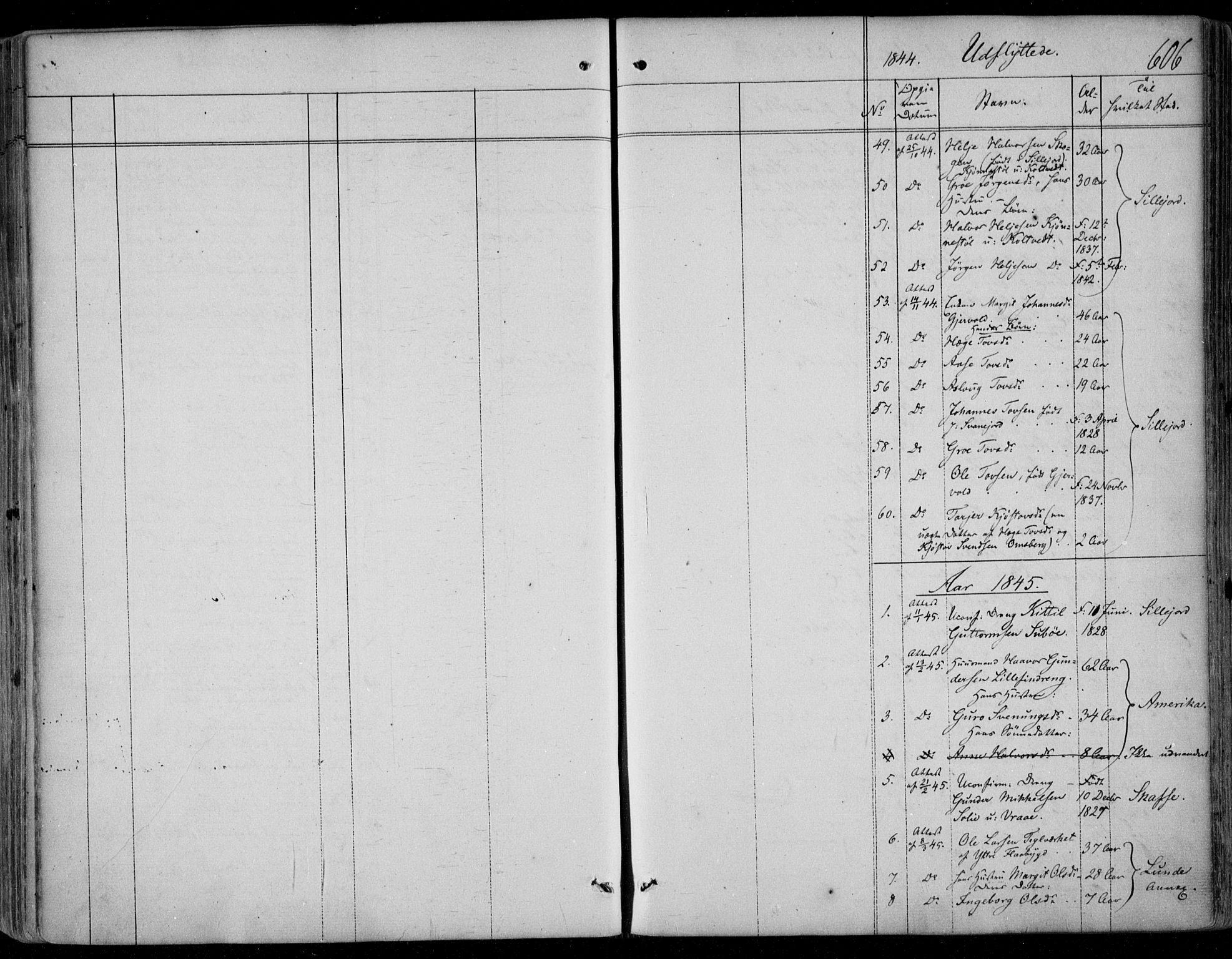SAKO, Kviteseid kirkebøker, F/Fa/L0006: Ministerialbok nr. I 6, 1836-1858, s. 606