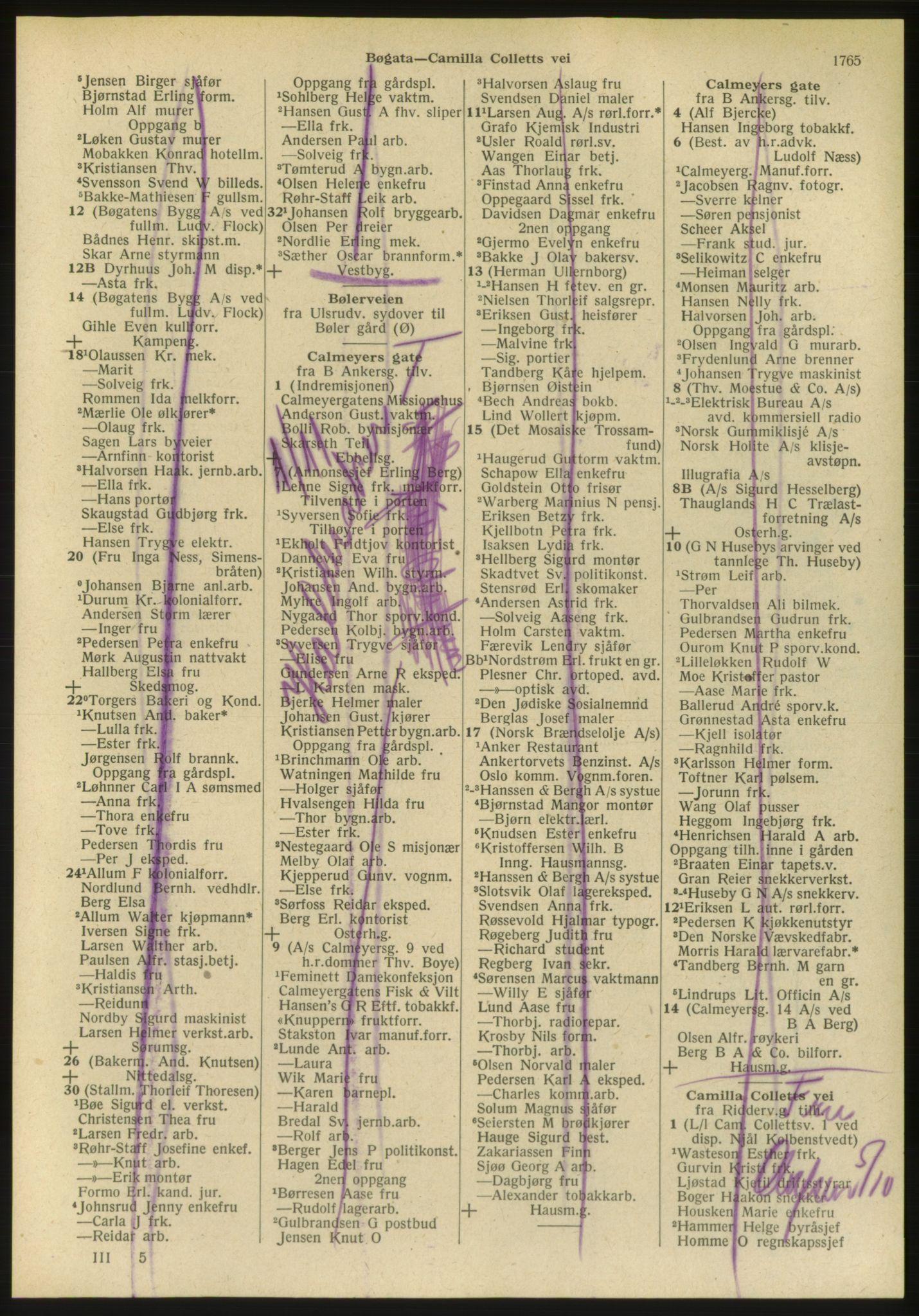 PUBL, Kristiania/Oslo adressebok, 1951, s. 1765