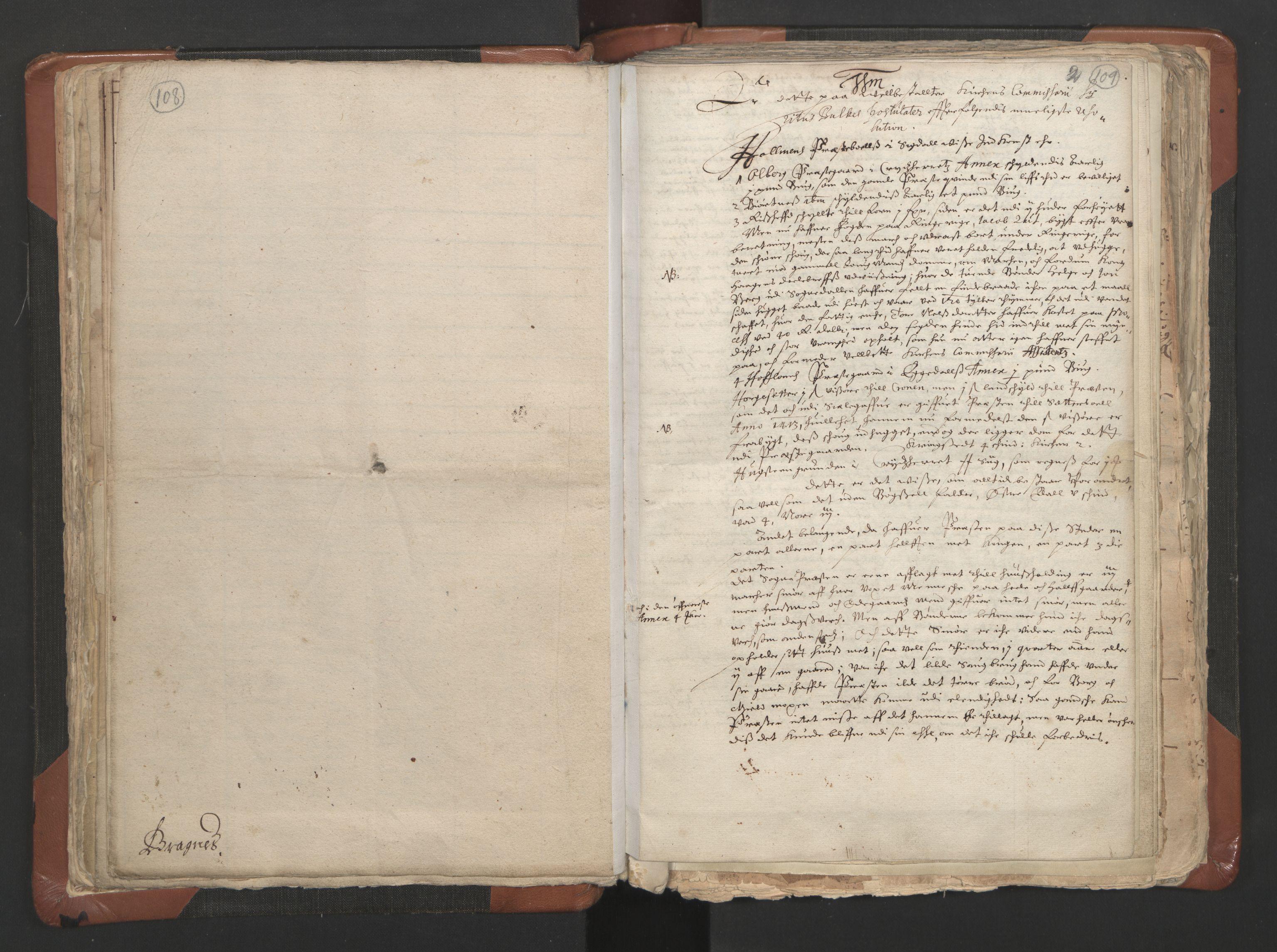 RA, Sogneprestenes manntall 1664-1666, nr. 9: Bragernes prosti, 1664-1666, s. 108-109
