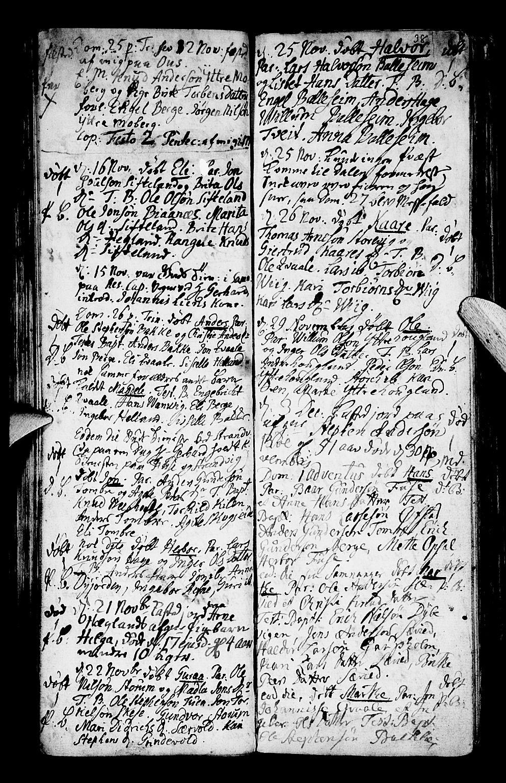 SAB, Os sokneprestembete*, Ministerialbok nr. A 9, 1766-1779, s. 38