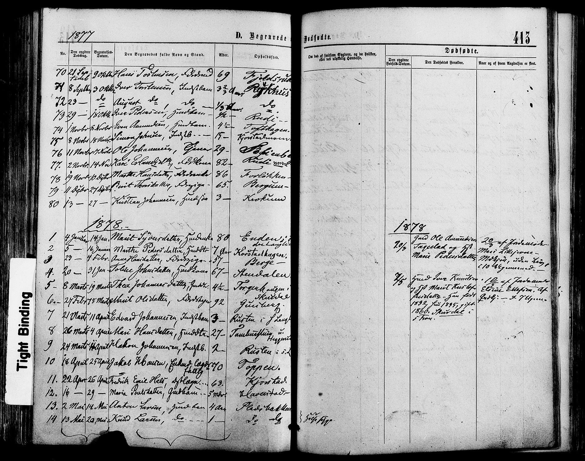 SAH, Sør-Fron prestekontor, H/Ha/Haa/L0002: Ministerialbok nr. 2, 1864-1880, s. 413