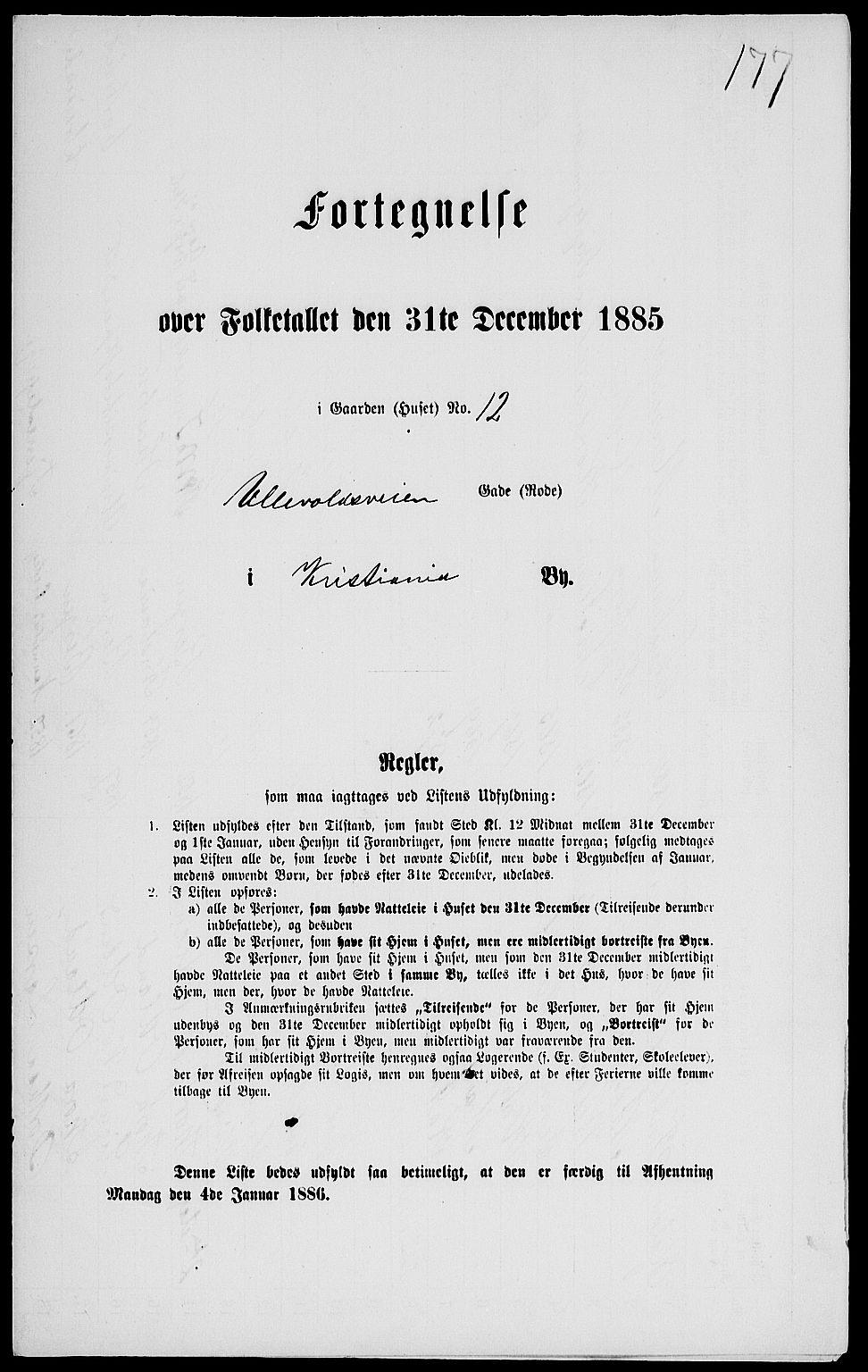 RA, Folketelling 1885 for 0301 Kristiania kjøpstad, 1885, s. 5963