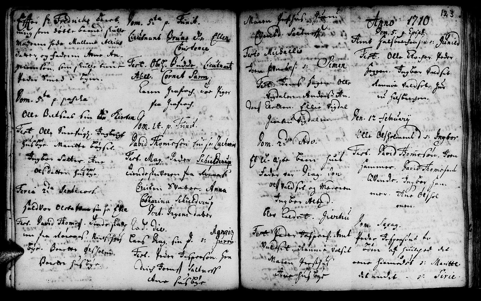 SAT, Ministerialprotokoller, klokkerbøker og fødselsregistre - Sør-Trøndelag, 666/L0783: Ministerialbok nr. 666A01, 1702-1753, s. 123
