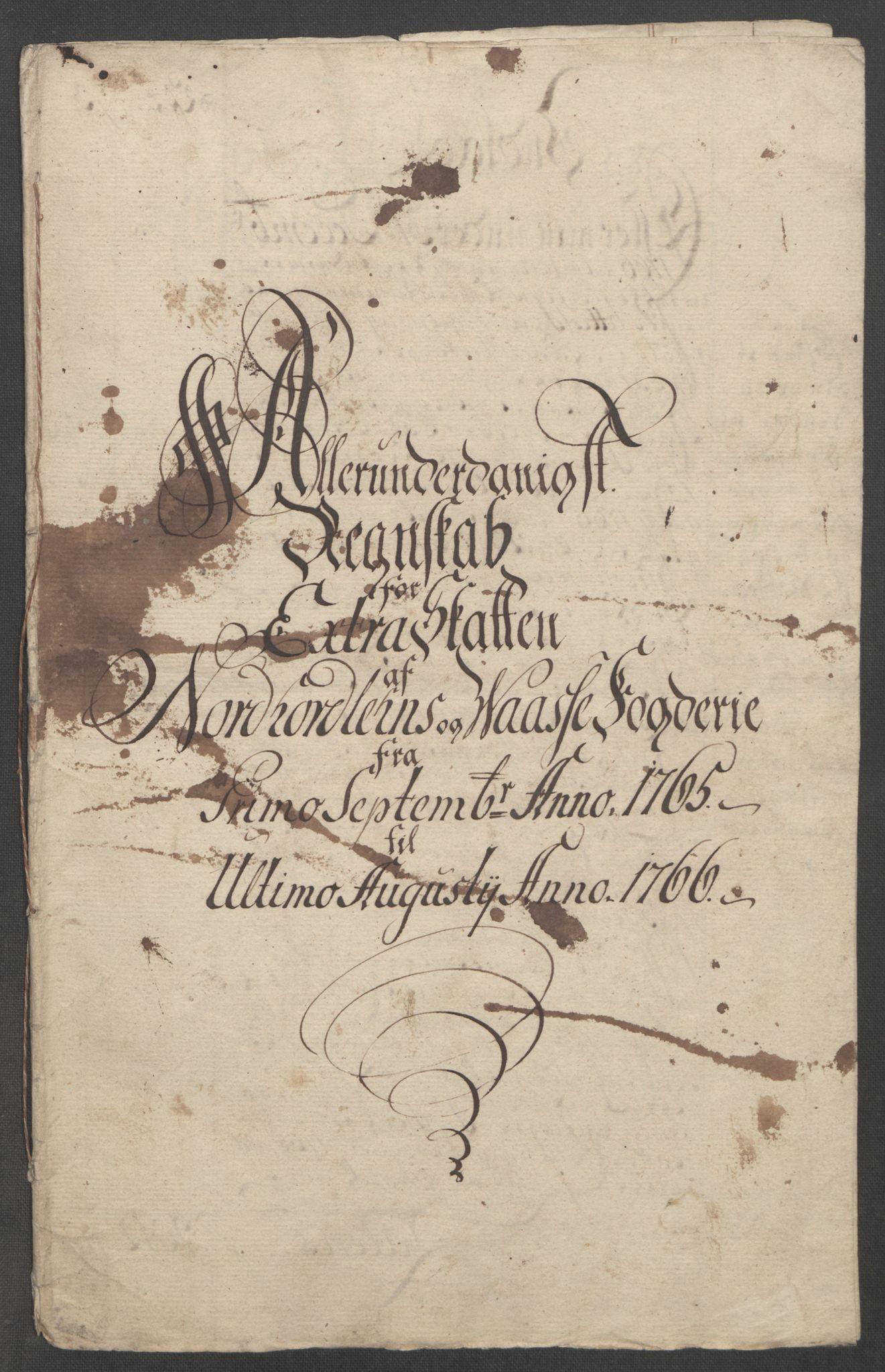 RA, Rentekammeret inntil 1814, Reviderte regnskaper, Fogderegnskap, R51/L3303: Ekstraskatten Nordhordland og Voss, 1762-1772, s. 109