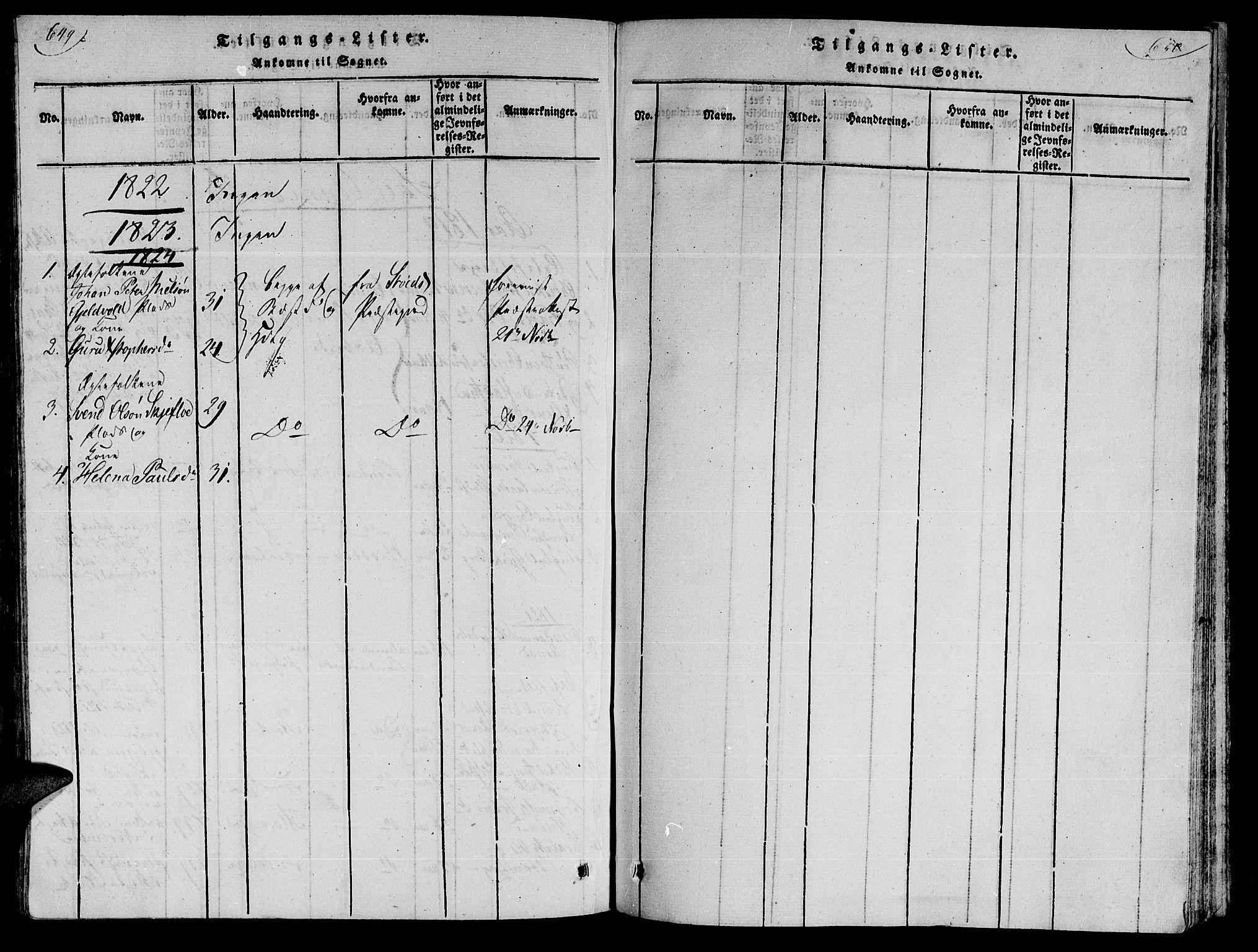 SAT, Ministerialprotokoller, klokkerbøker og fødselsregistre - Nord-Trøndelag, 735/L0333: Ministerialbok nr. 735A04 /2, 1816-1825, s. 649-650