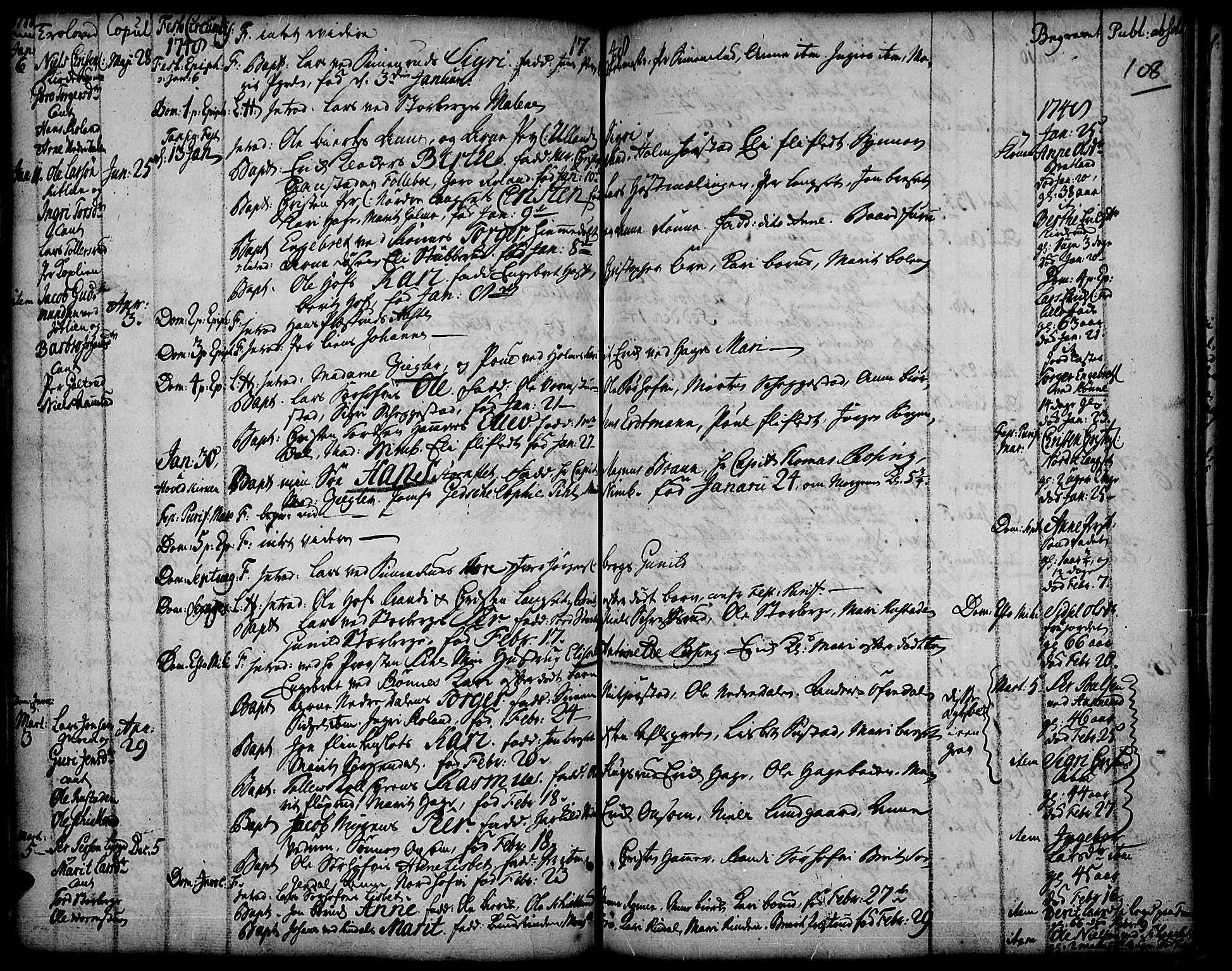 SAH, Fåberg prestekontor, Ministerialbok nr. 1, 1727-1775, s. 108
