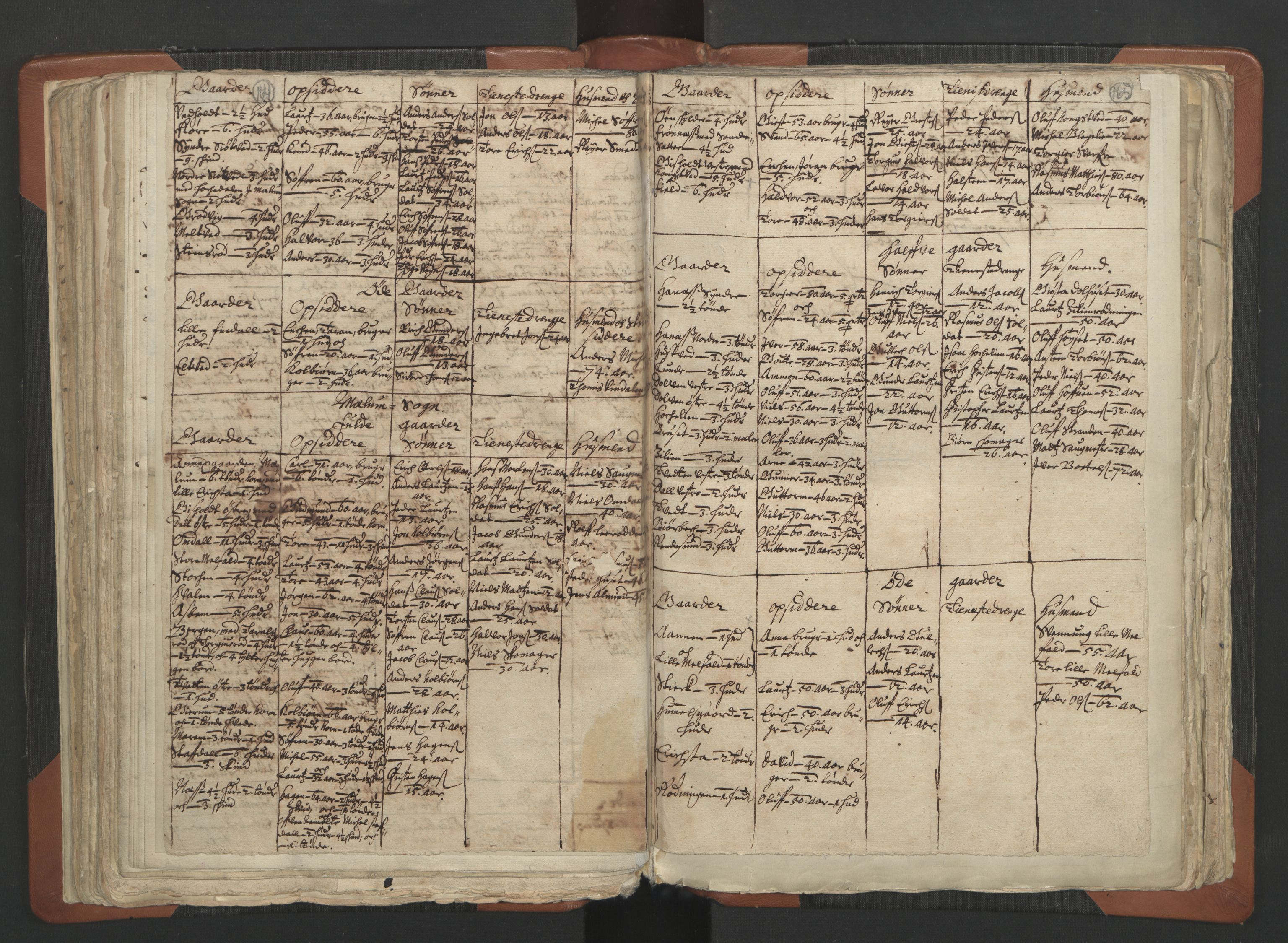 RA, Sogneprestenes manntall 1664-1666, nr. 12: Øvre Telemark prosti, Nedre Telemark prosti og Bamble prosti, 1664-1666, s. 164-165