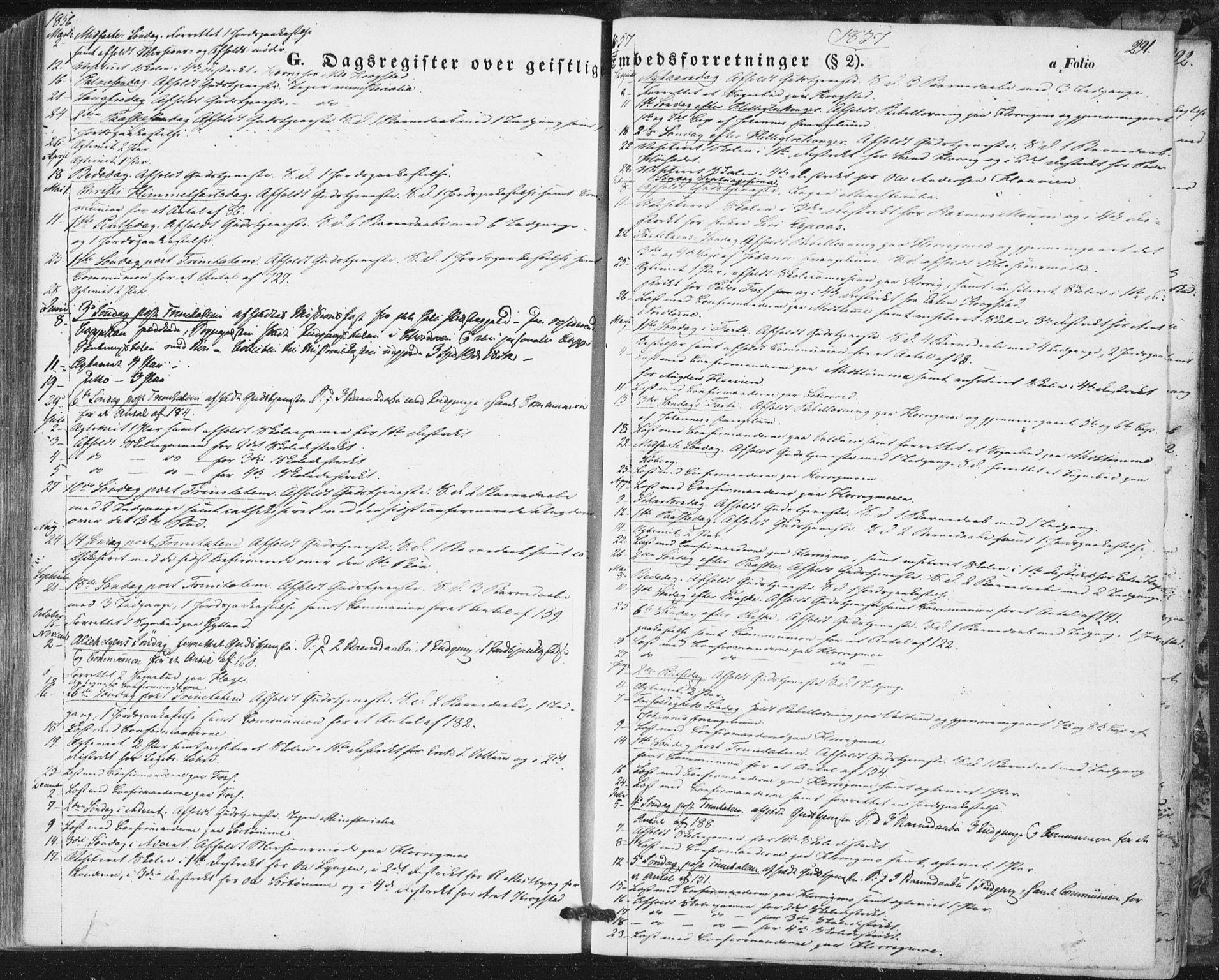 SAT, Ministerialprotokoller, klokkerbøker og fødselsregistre - Sør-Trøndelag, 692/L1103: Ministerialbok nr. 692A03, 1849-1870, s. 291