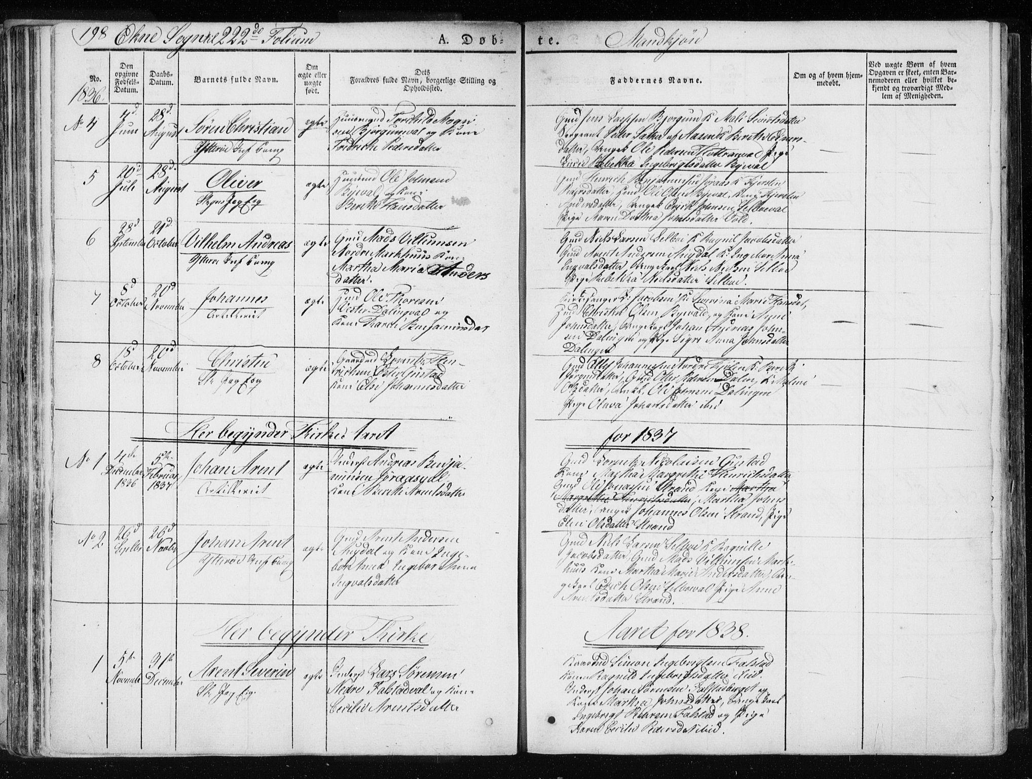 SAT, Ministerialprotokoller, klokkerbøker og fødselsregistre - Nord-Trøndelag, 717/L0154: Ministerialbok nr. 717A06 /2, 1836-1849, s. 198
