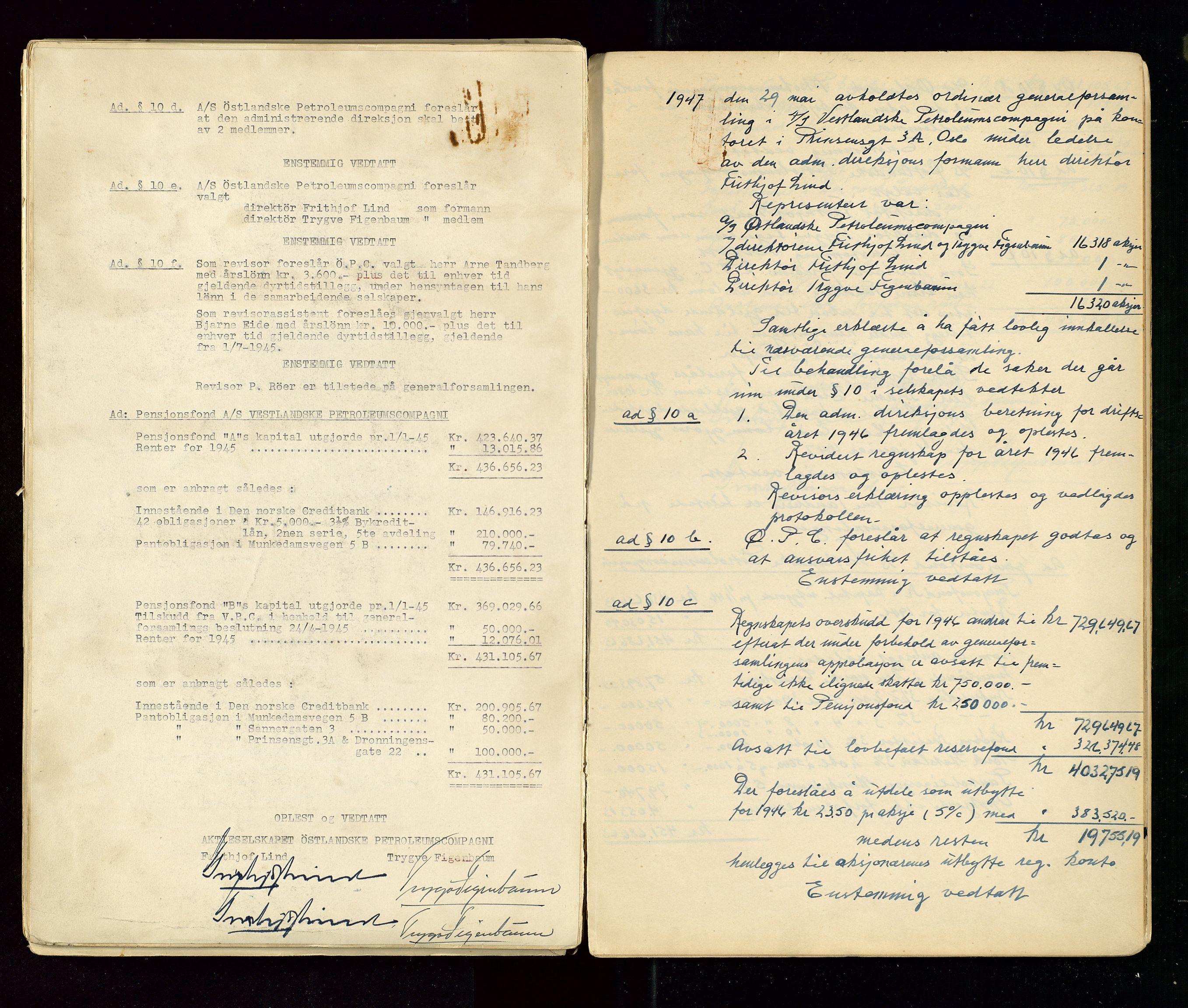 SAST, PA 1533 - A/S Vestlandske Petroleumscompani, A/Aa/L0001: Generalforsamlinger og styreprotokoller, 1890-1953, s. 136