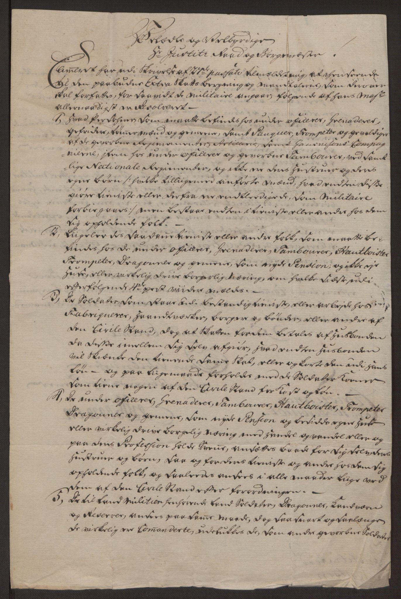 RA, Rentekammeret inntil 1814, Reviderte regnskaper, Byregnskaper, R/Rj/L0198: [J4] Kontribusjonsregnskap, 1762-1768, s. 97