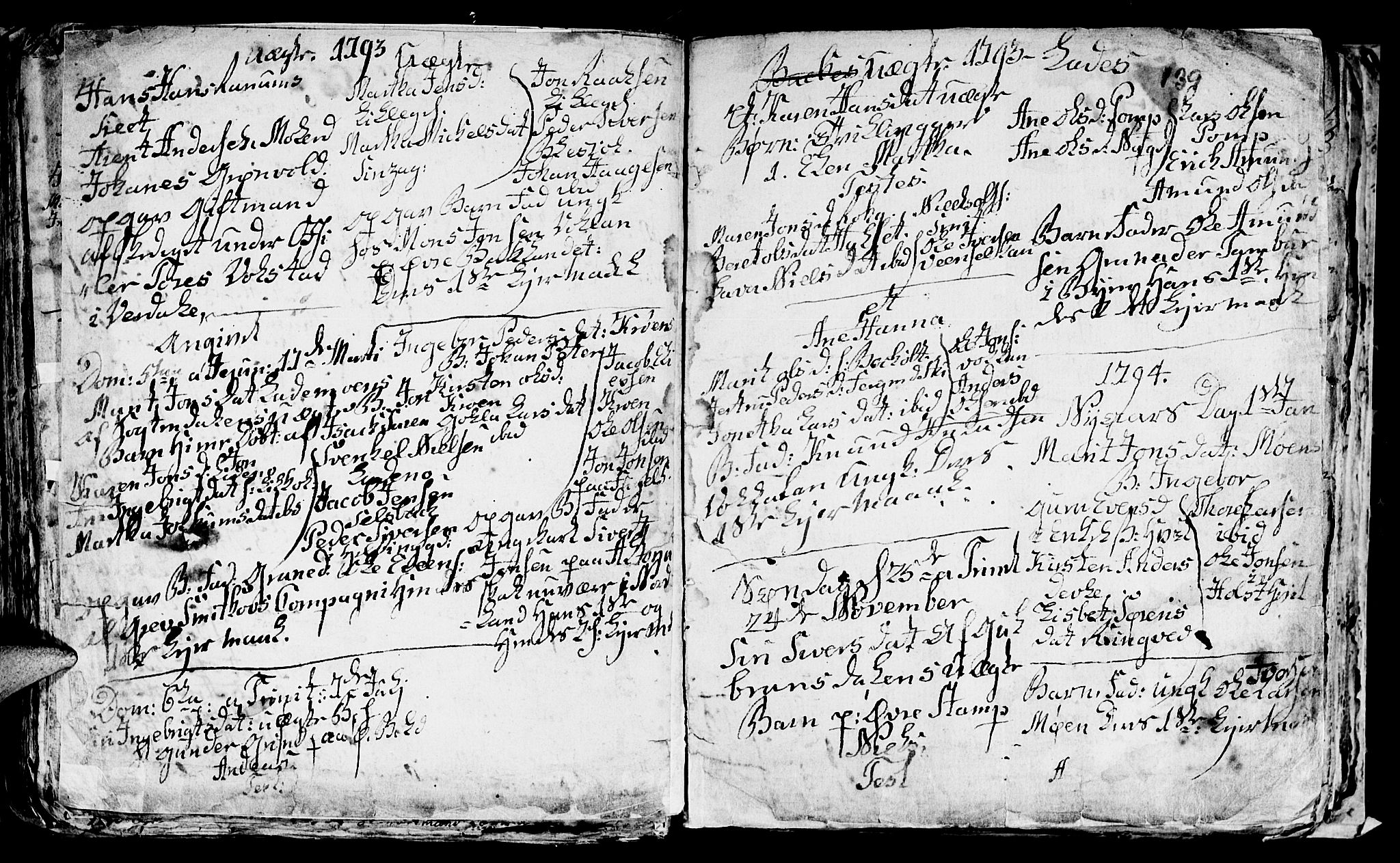 SAT, Ministerialprotokoller, klokkerbøker og fødselsregistre - Sør-Trøndelag, 606/L0305: Klokkerbok nr. 606C01, 1757-1819, s. 139