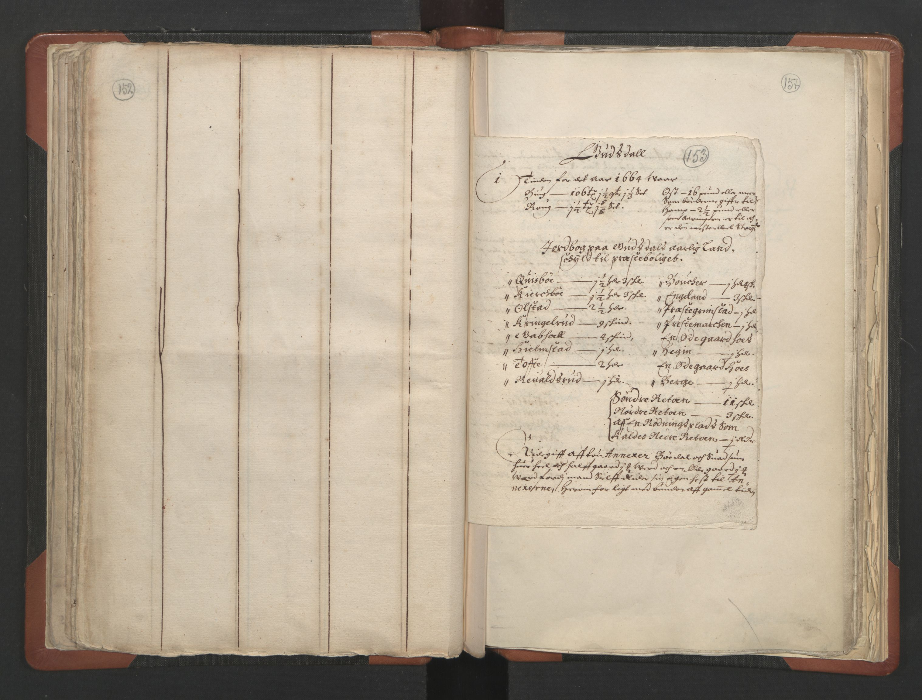 RA, Sogneprestenes manntall 1664-1666, nr. 6: Gudbrandsdal prosti, 1664-1666, s. 152-153
