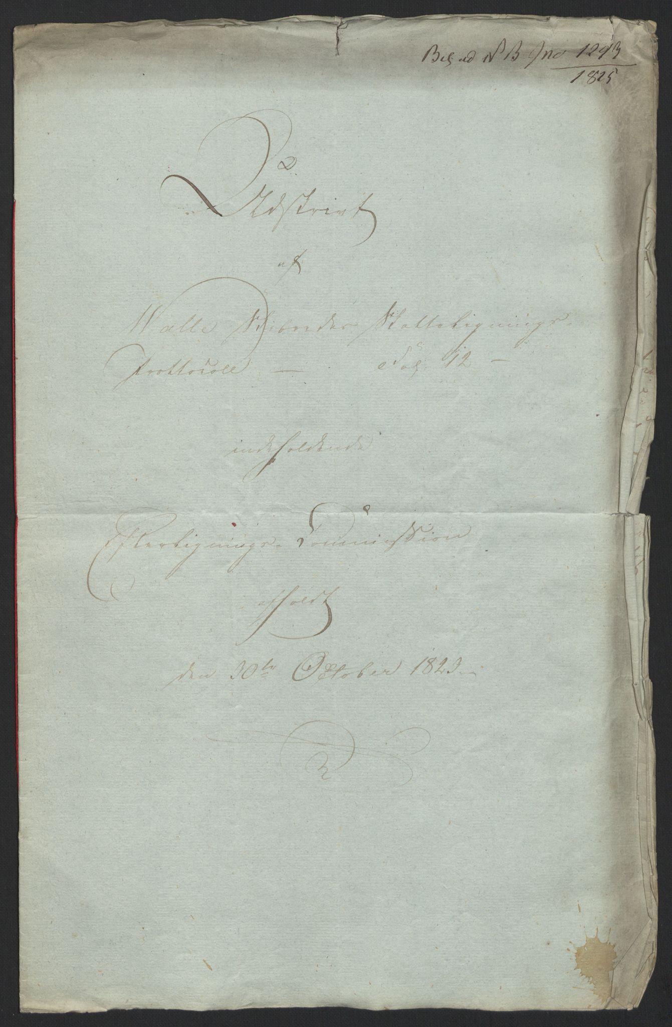 NOBA, Norges Bank/Sølvskatten 1816*, 1816-1825, s. 65
