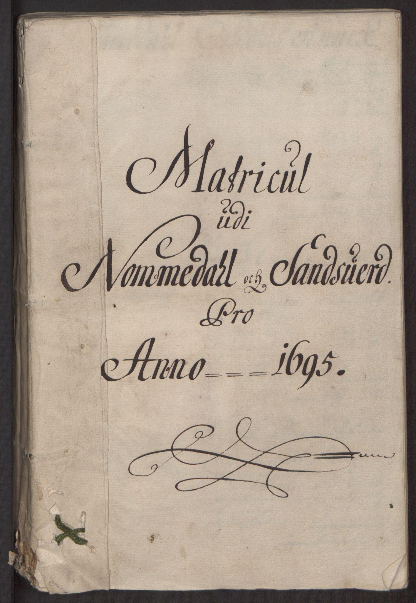RA, Rentekammeret inntil 1814, Reviderte regnskaper, Fogderegnskap, R24/L1575: Fogderegnskap Numedal og Sandsvær, 1692-1695, s. 279