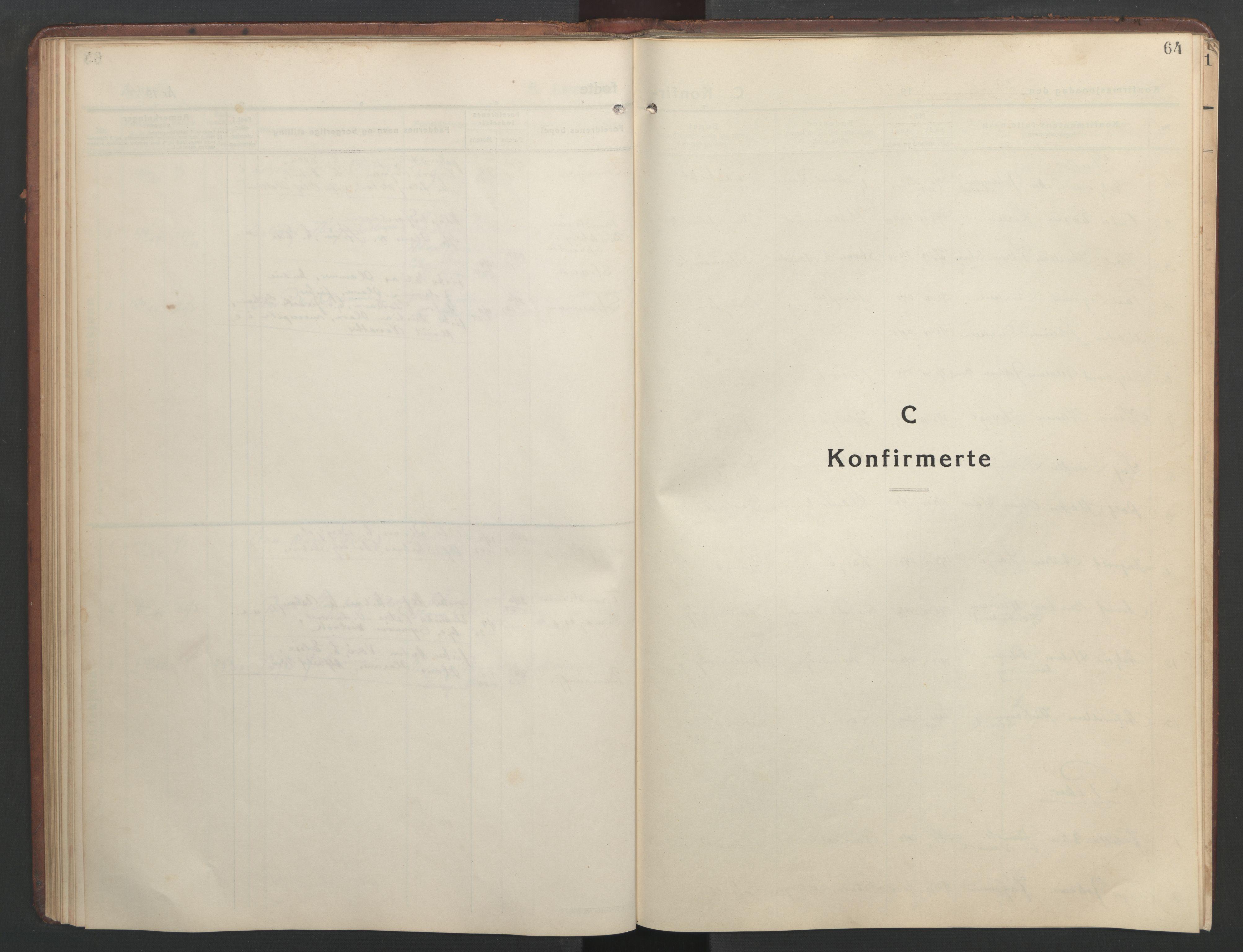 SAT, Ministerialprotokoller, klokkerbøker og fødselsregistre - Sør-Trøndelag, 634/L0544: Klokkerbok nr. 634C06, 1927-1948, s. 64