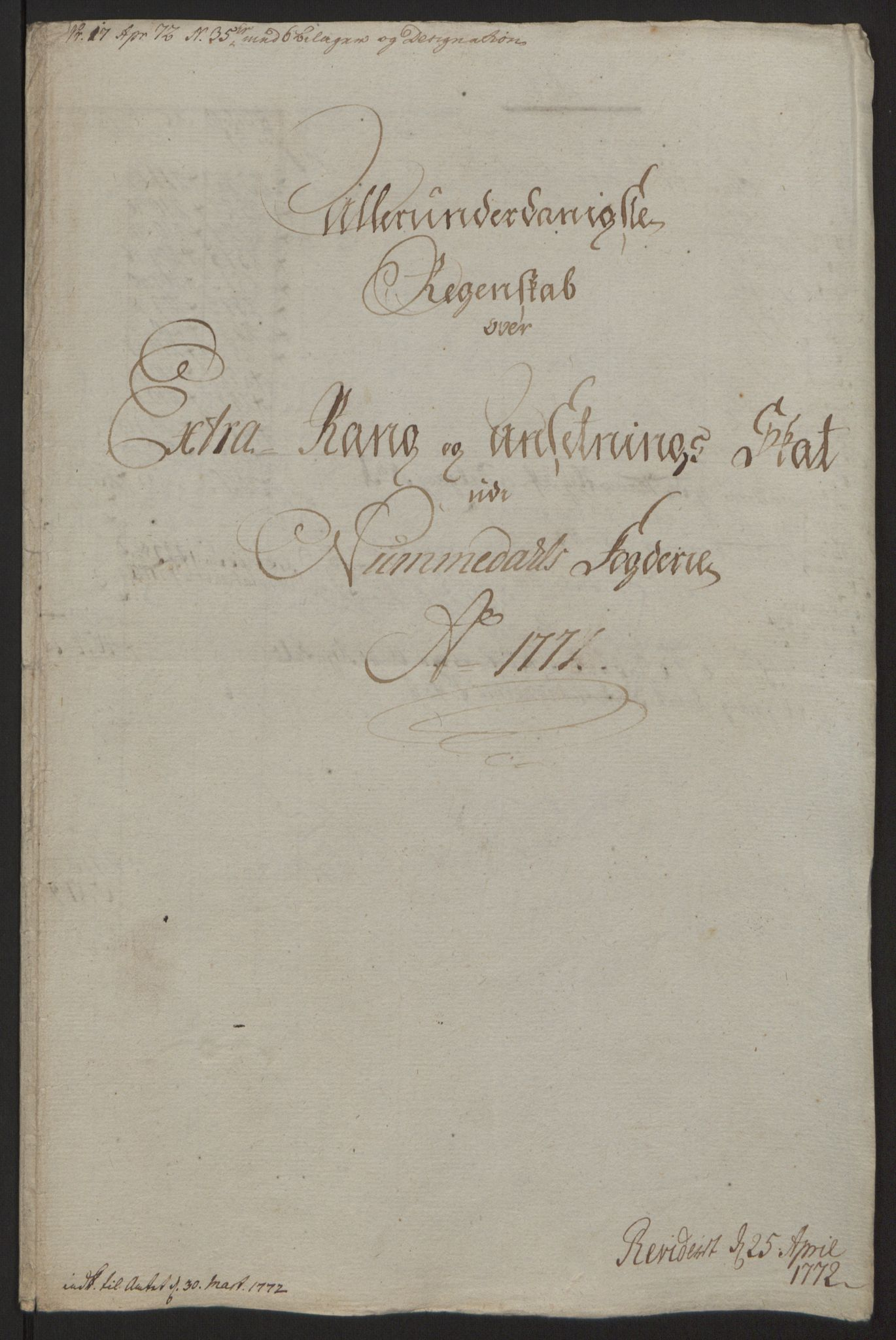 RA, Rentekammeret inntil 1814, Reviderte regnskaper, Fogderegnskap, R64/L4502: Ekstraskatten Namdal, 1762-1772, s. 391