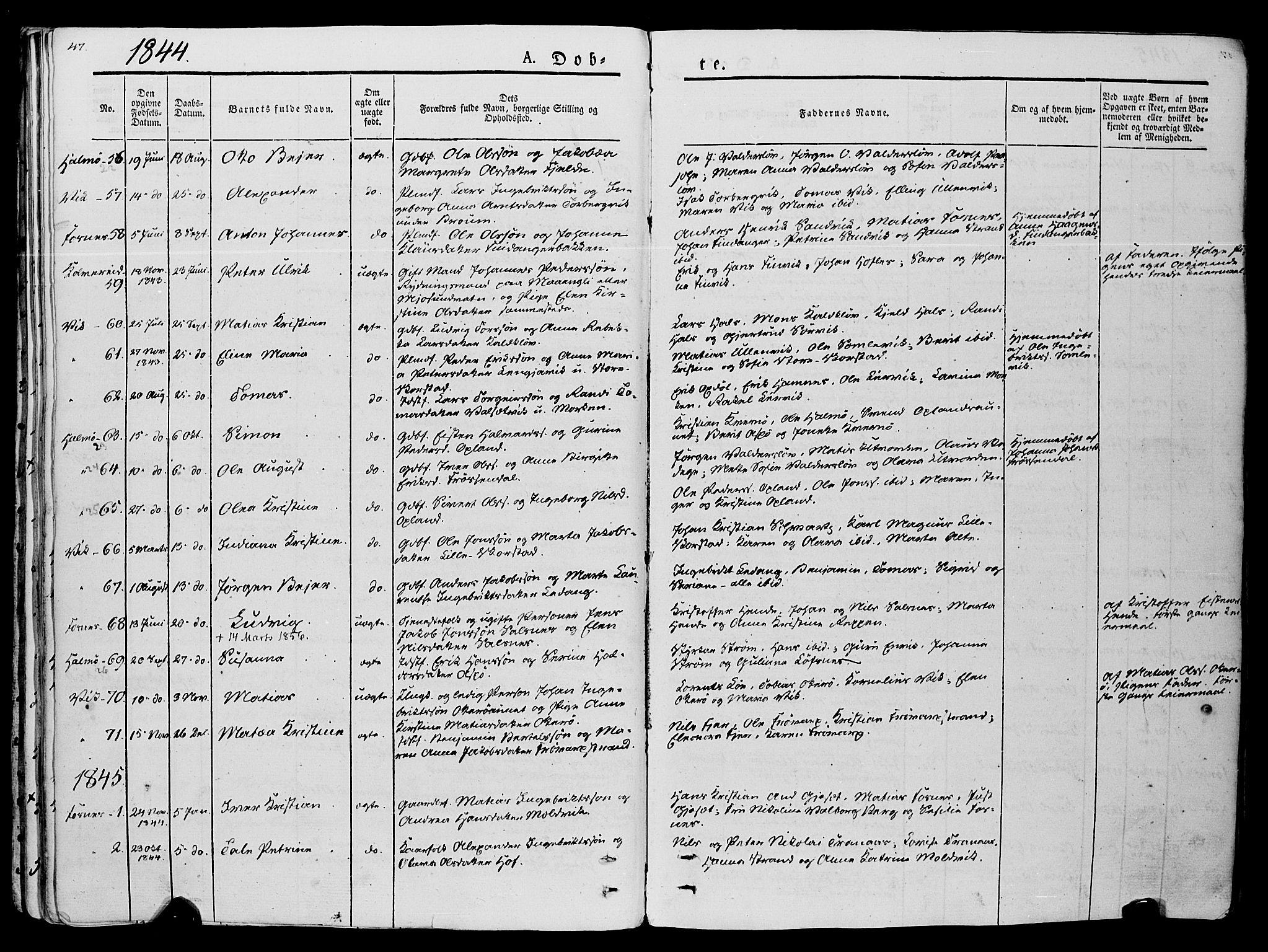 SAT, Ministerialprotokoller, klokkerbøker og fødselsregistre - Nord-Trøndelag, 773/L0614: Ministerialbok nr. 773A05, 1831-1856, s. 47
