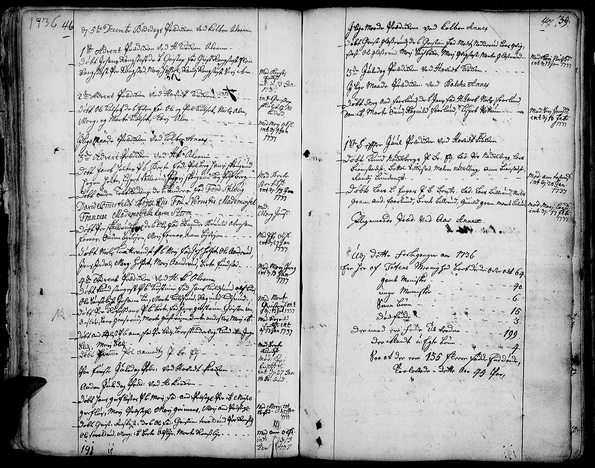 SAH, Toten prestekontor, Ministerialbok nr. 3, 1734-1751, s. 46-47