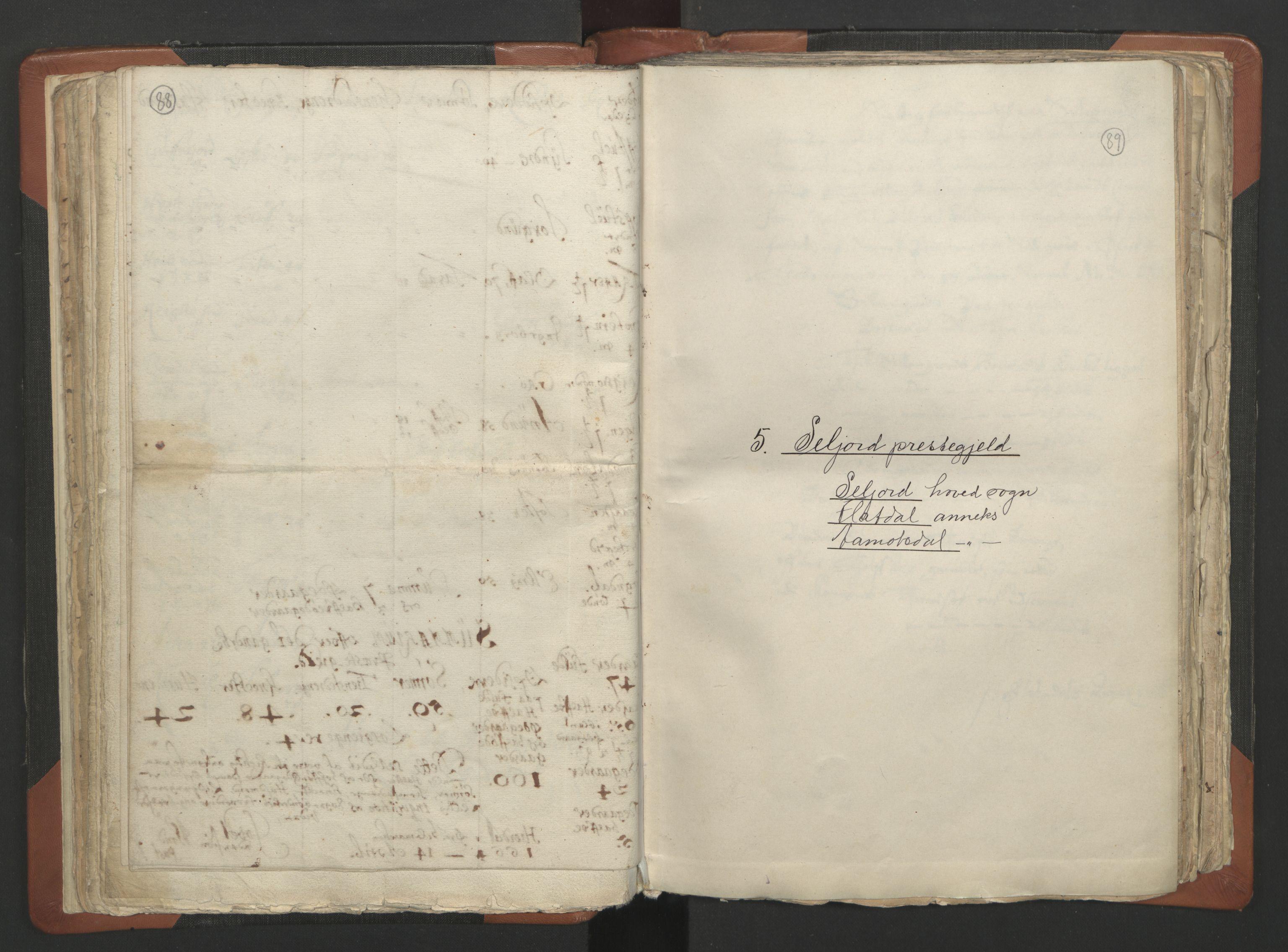 RA, Sogneprestenes manntall 1664-1666, nr. 12: Øvre Telemark prosti, Nedre Telemark prosti og Bamble prosti, 1664-1666, s. 88-89