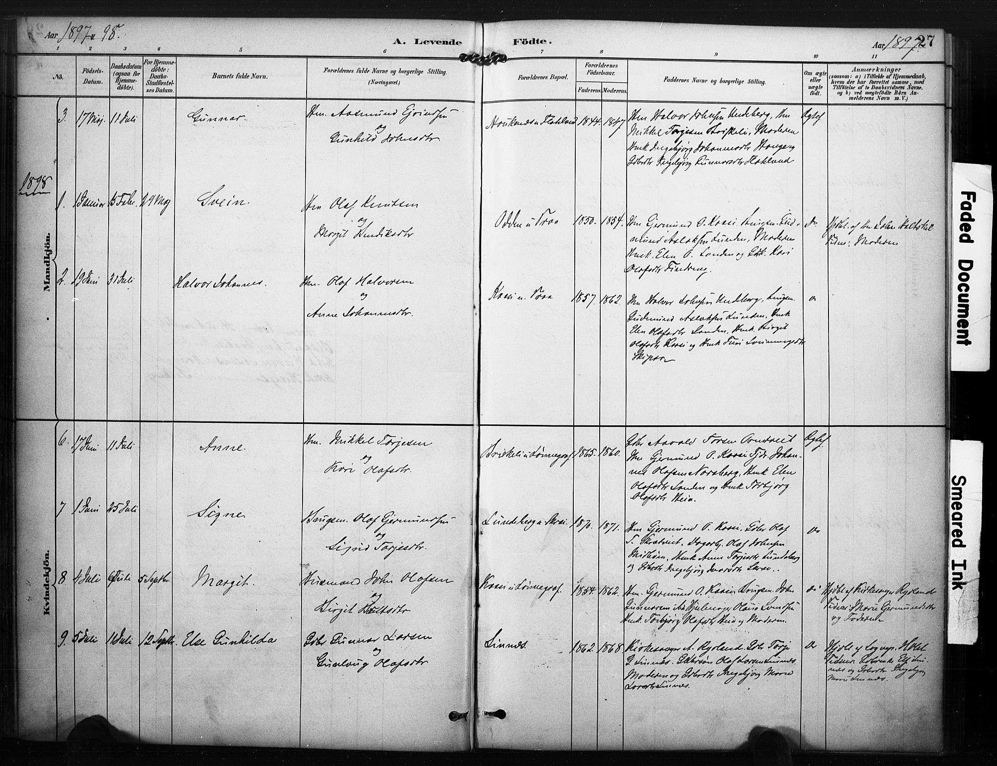 SAKO, Kviteseid kirkebøker, F/Fc/L0002: Ministerialbok nr. III 2, 1882-1908, s. 27
