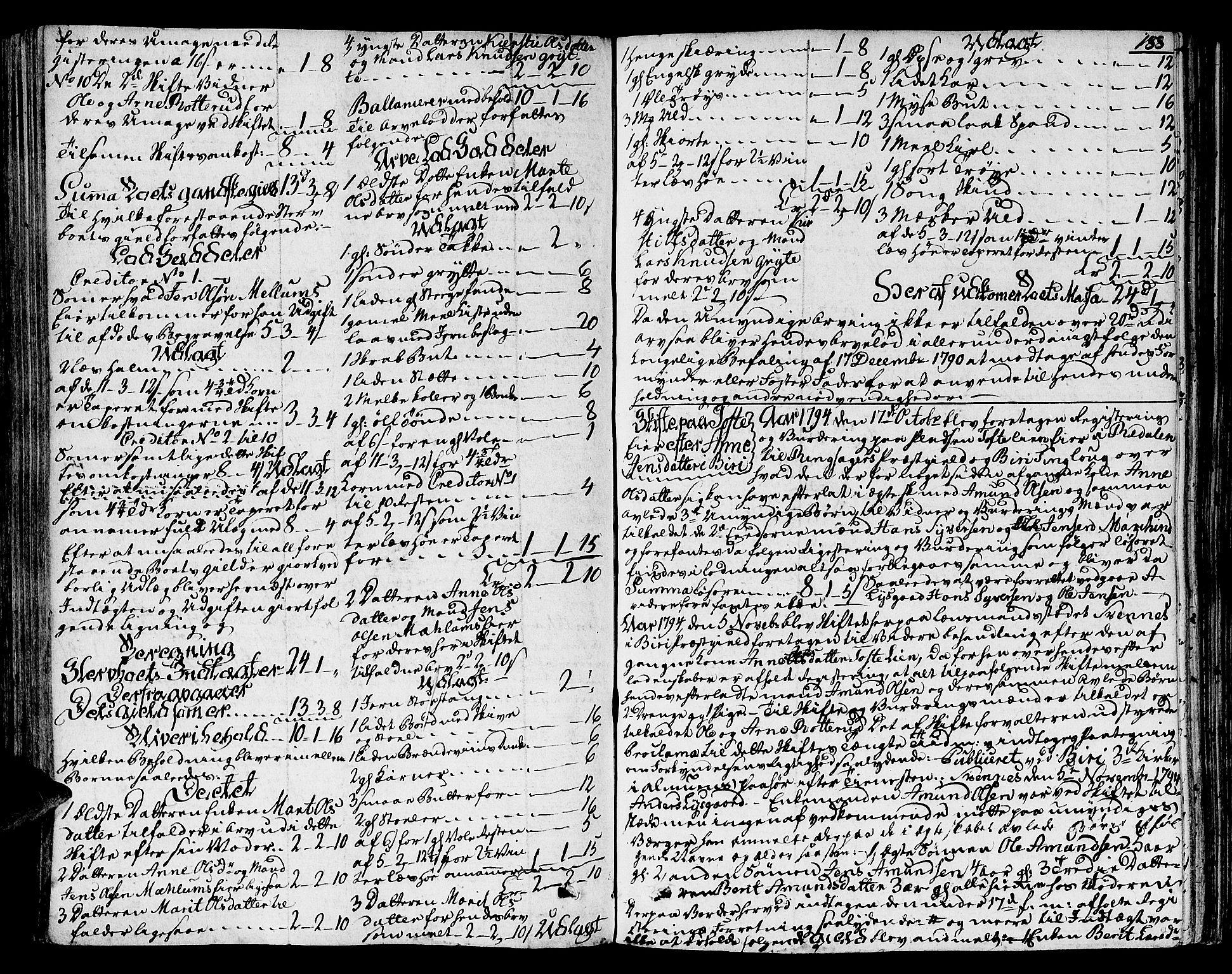 SAH, Toten tingrett, J/Ja/L0012: Skifteprotokoll, 1791-1810, s. 187b-188a