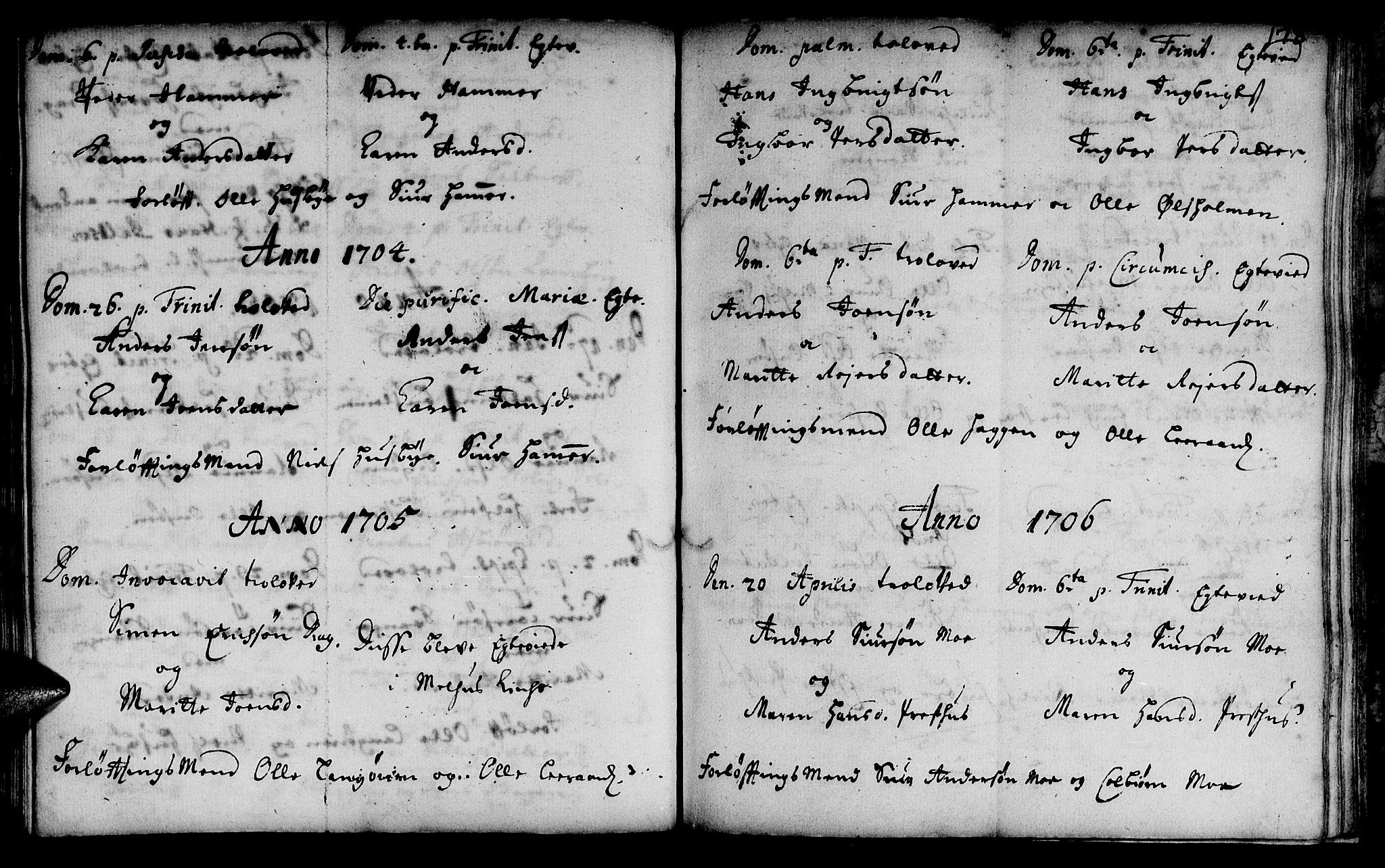 SAT, Ministerialprotokoller, klokkerbøker og fødselsregistre - Sør-Trøndelag, 666/L0783: Ministerialbok nr. 666A01, 1702-1753, s. 178