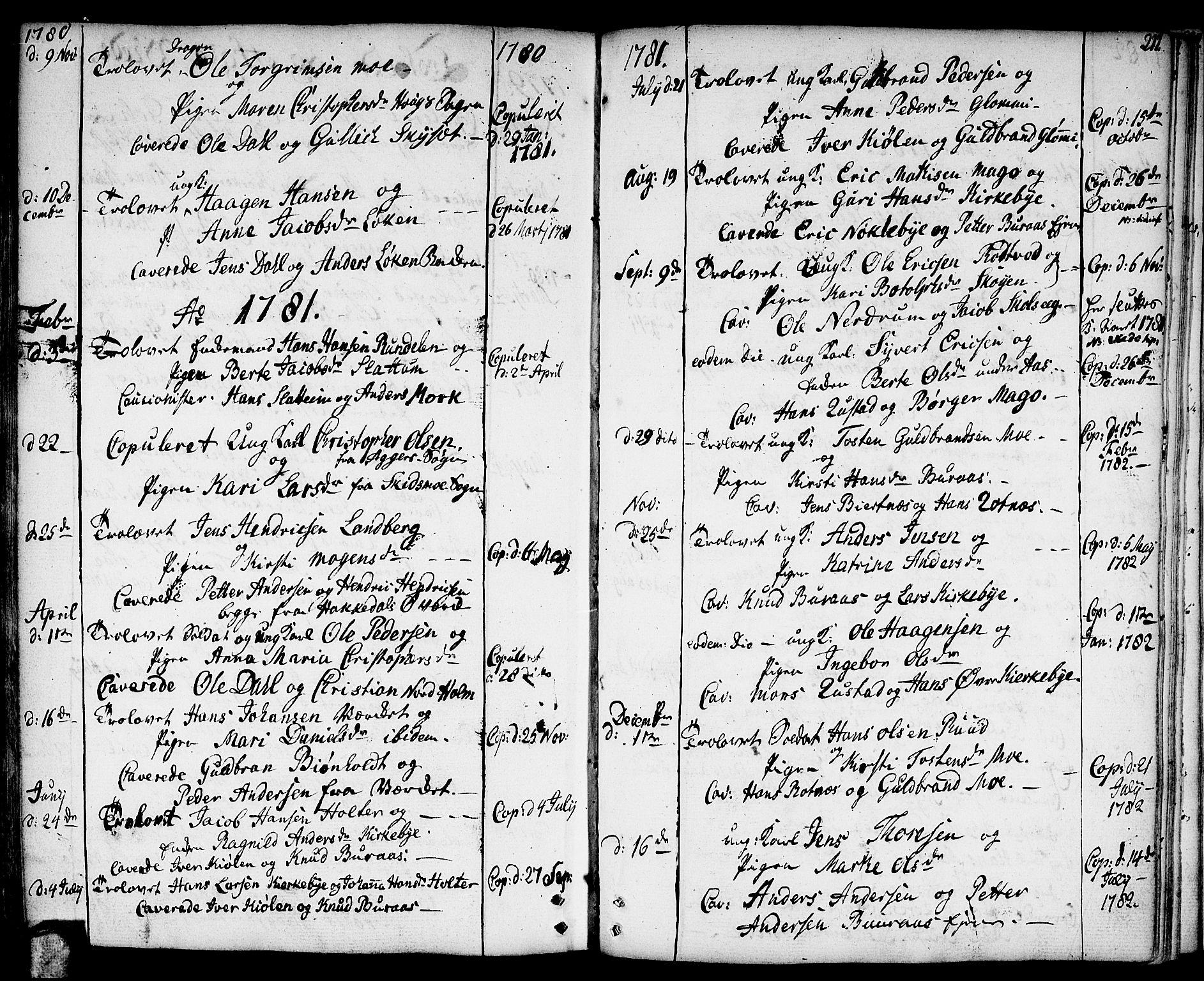SAO, Nittedal prestekontor Kirkebøker, F/Fa/L0002: Ministerialbok nr. I 2, 1779-1814, s. 211