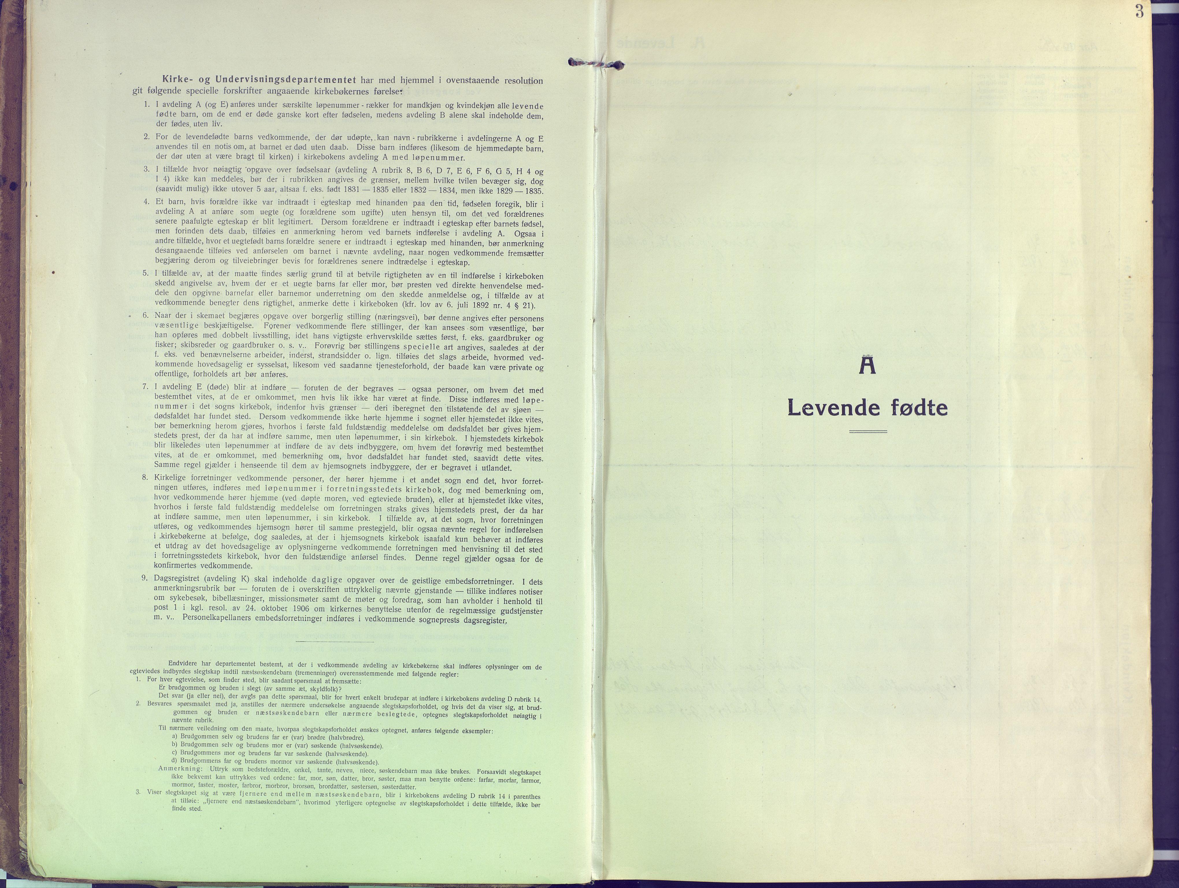 SATØ, Kvæfjord sokneprestkontor, G/Ga/Gaa/L0007kirke: Ministerialbok nr. 7, 1915-1931, s. 3