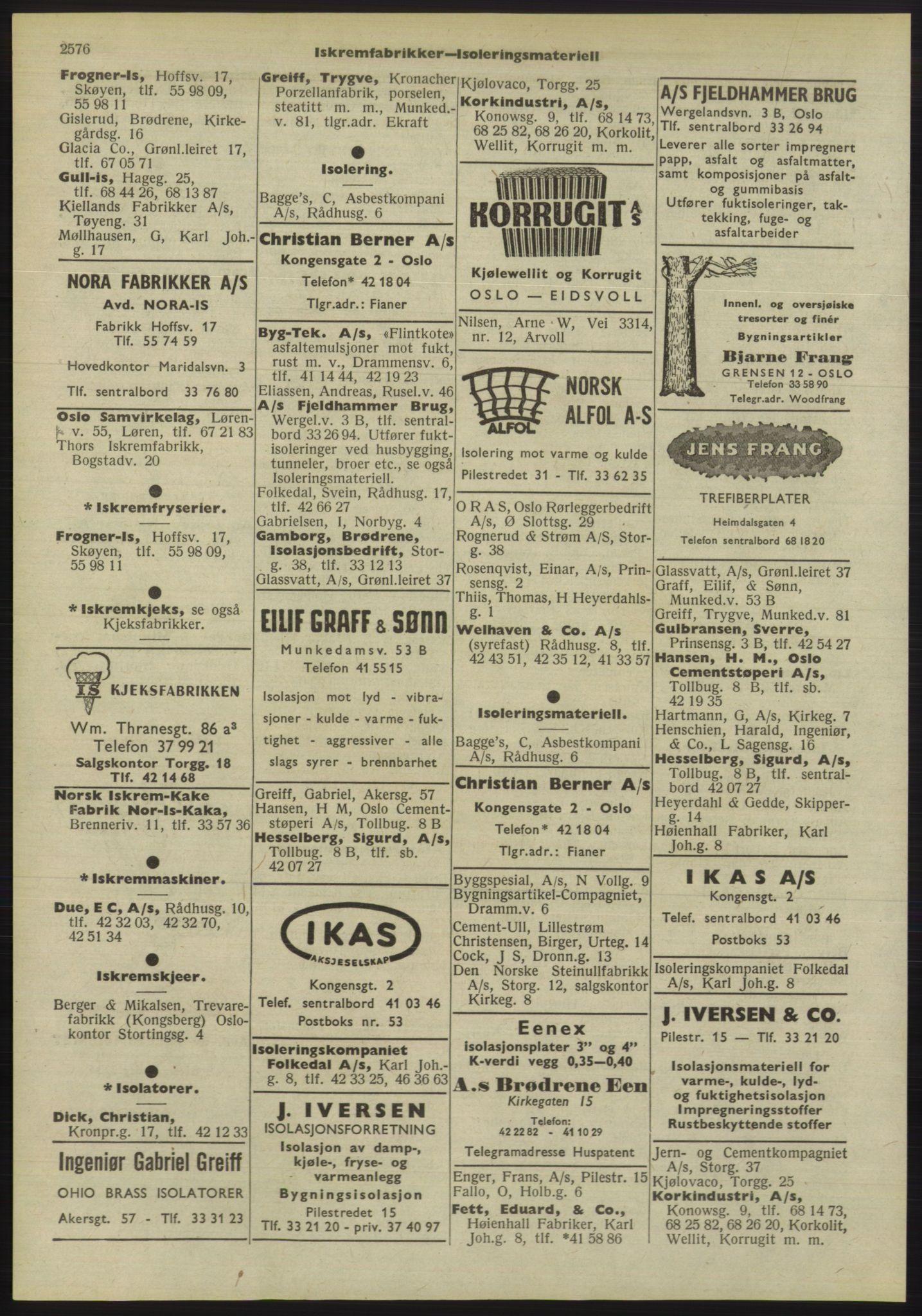 PUBL, Kristiania/Oslo adressebok, 1955, s. 2576
