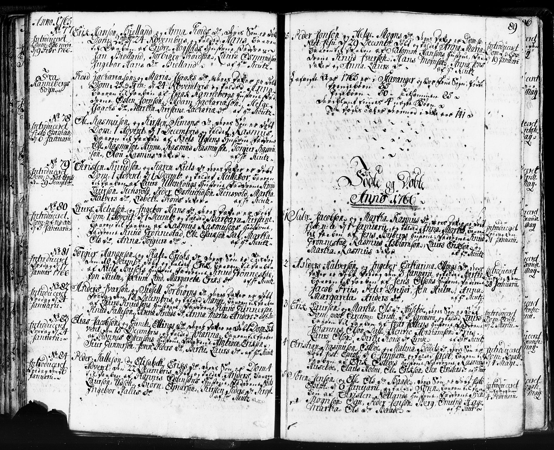 SAST, Domkirken sokneprestkontor, 30/30BB/L0004: Klokkerbok nr. B 4, 1752-1790, s. 89
