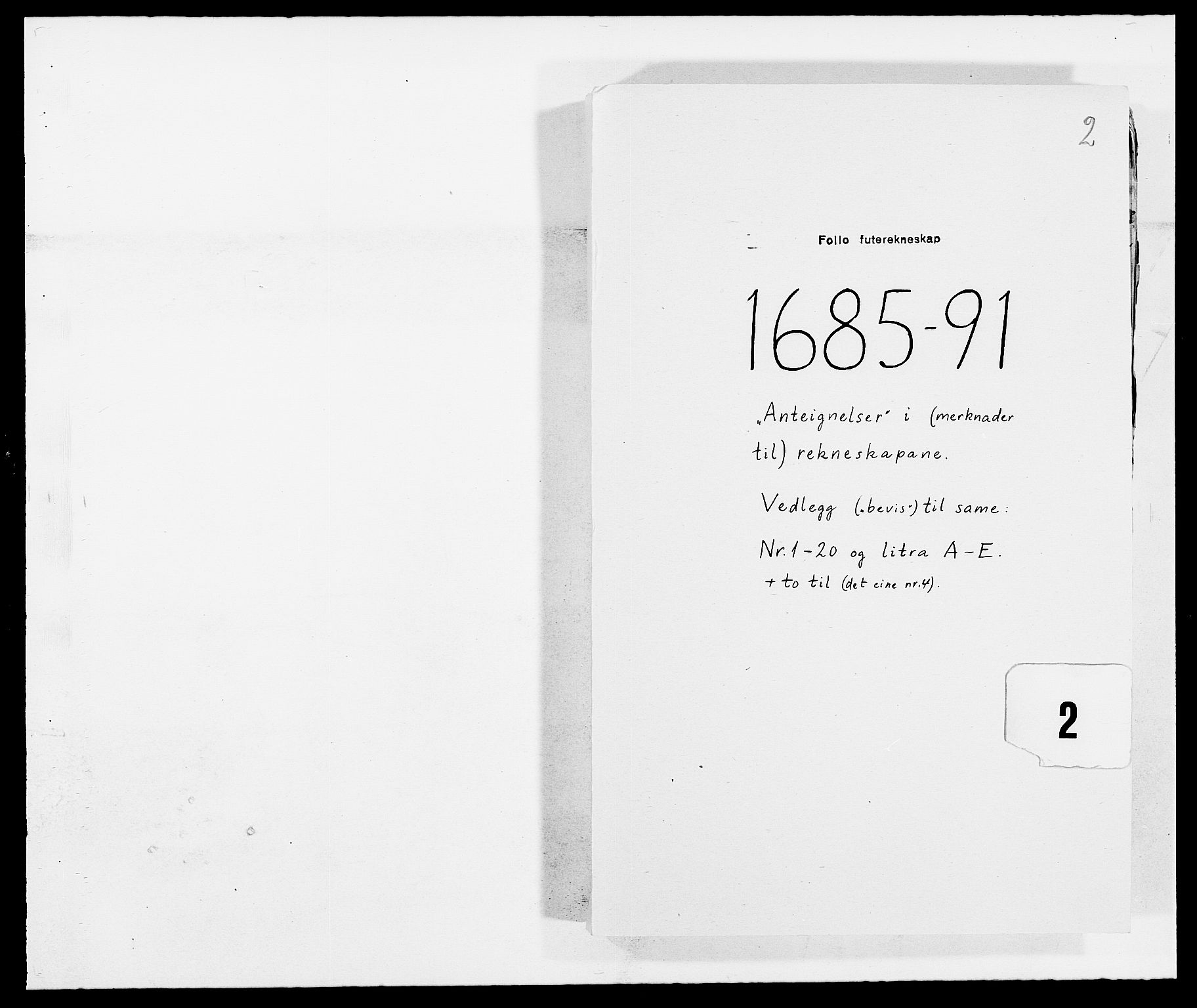 RA, Rentekammeret inntil 1814, Reviderte regnskaper, Fogderegnskap, R09/L0436: Fogderegnskap Follo, 1685-1691, s. 273