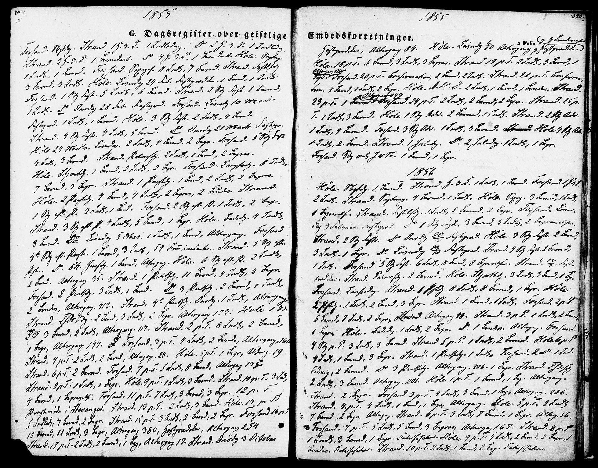 SAST, Strand sokneprestkontor, H/Ha/Haa/L0007: Ministerialbok nr. A 7, 1855-1881, s. 390