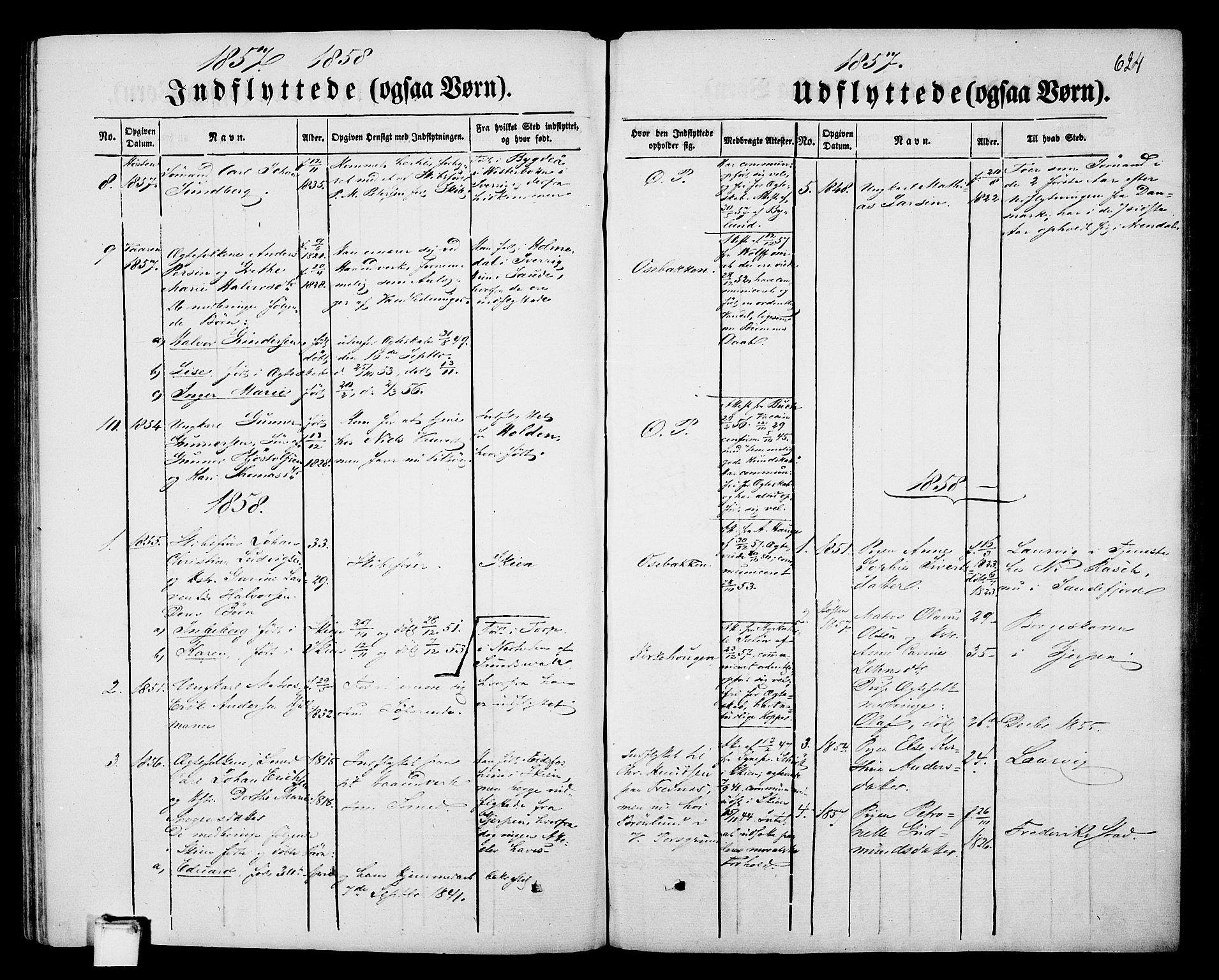 SAKO, Porsgrunn kirkebøker , G/Gb/L0004: Klokkerbok nr. II 4, 1853-1882, s. 624