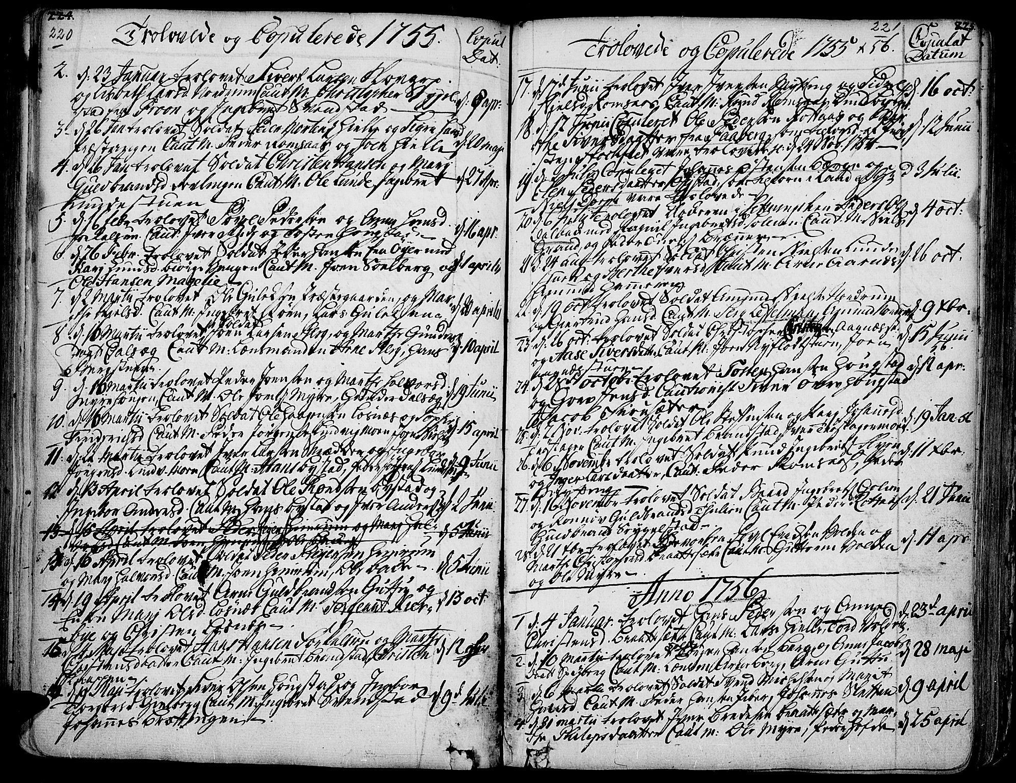 SAH, Ringebu prestekontor, Ministerialbok nr. 2, 1734-1780, s. 220-221